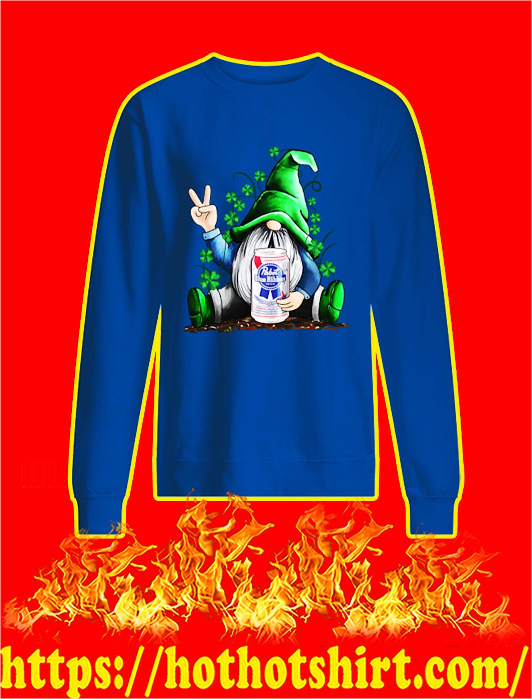 Irish Gnome Hug Pabst Blue Ribbon St Patrick's Day sweatshirt