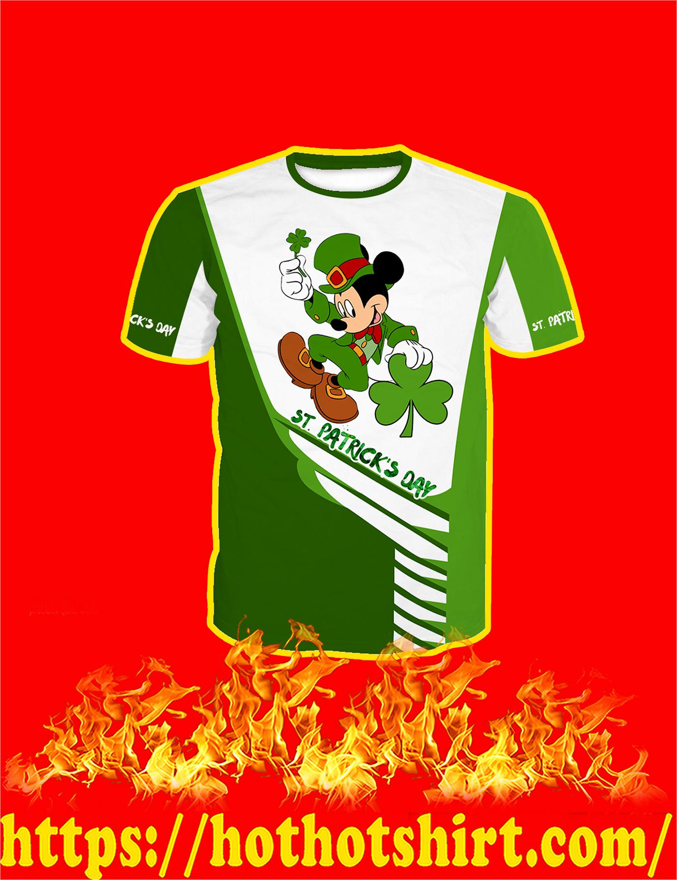 Irish Saint Patrick's Day Mickey Mouse All Over Print T-Shirt
