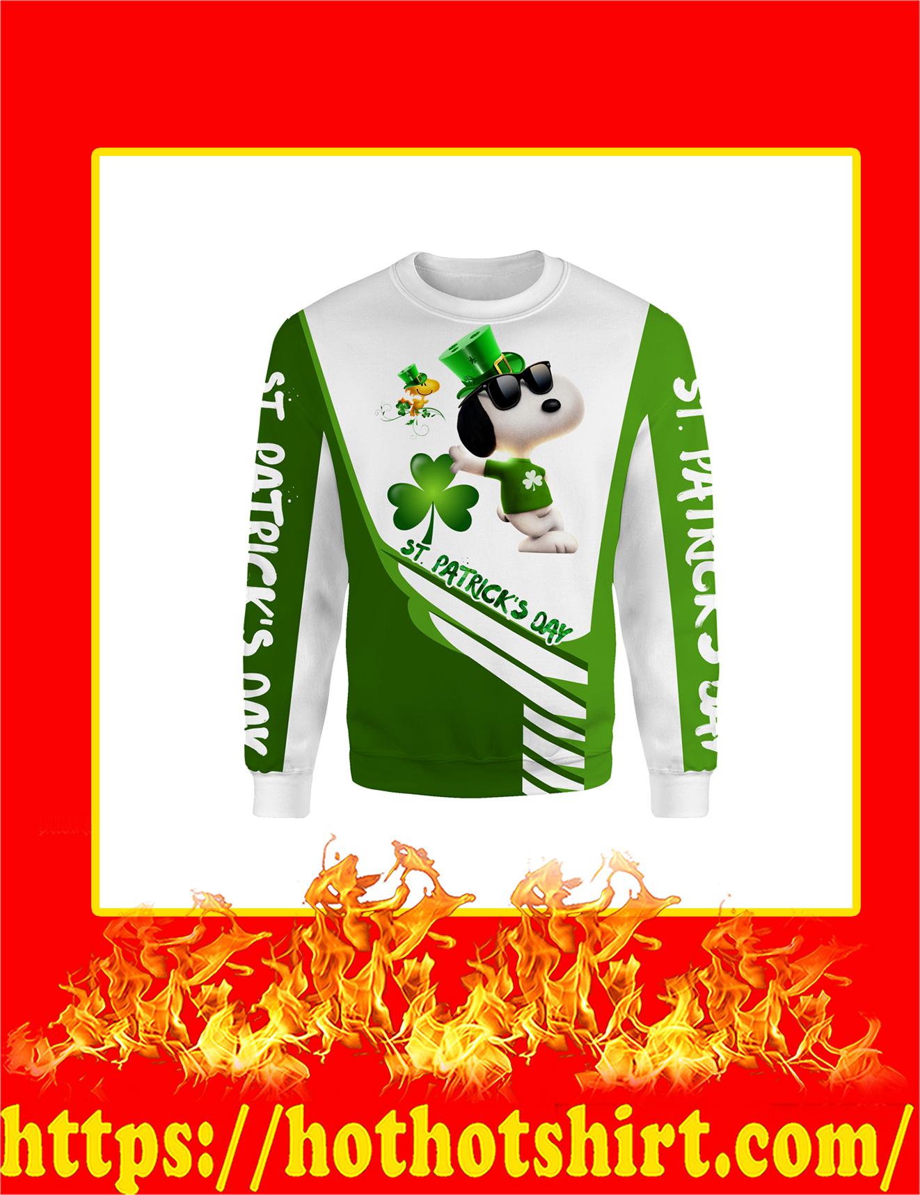 Irish Saint Patrick's Day Snoopy All Over Print Sweatshirt