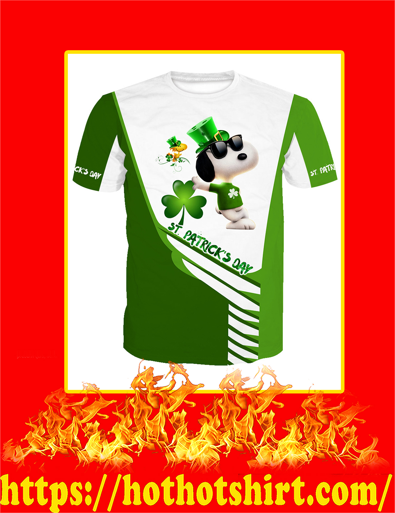 Irish Saint Patrick's Day Snoopy All Over Print T-Shirt