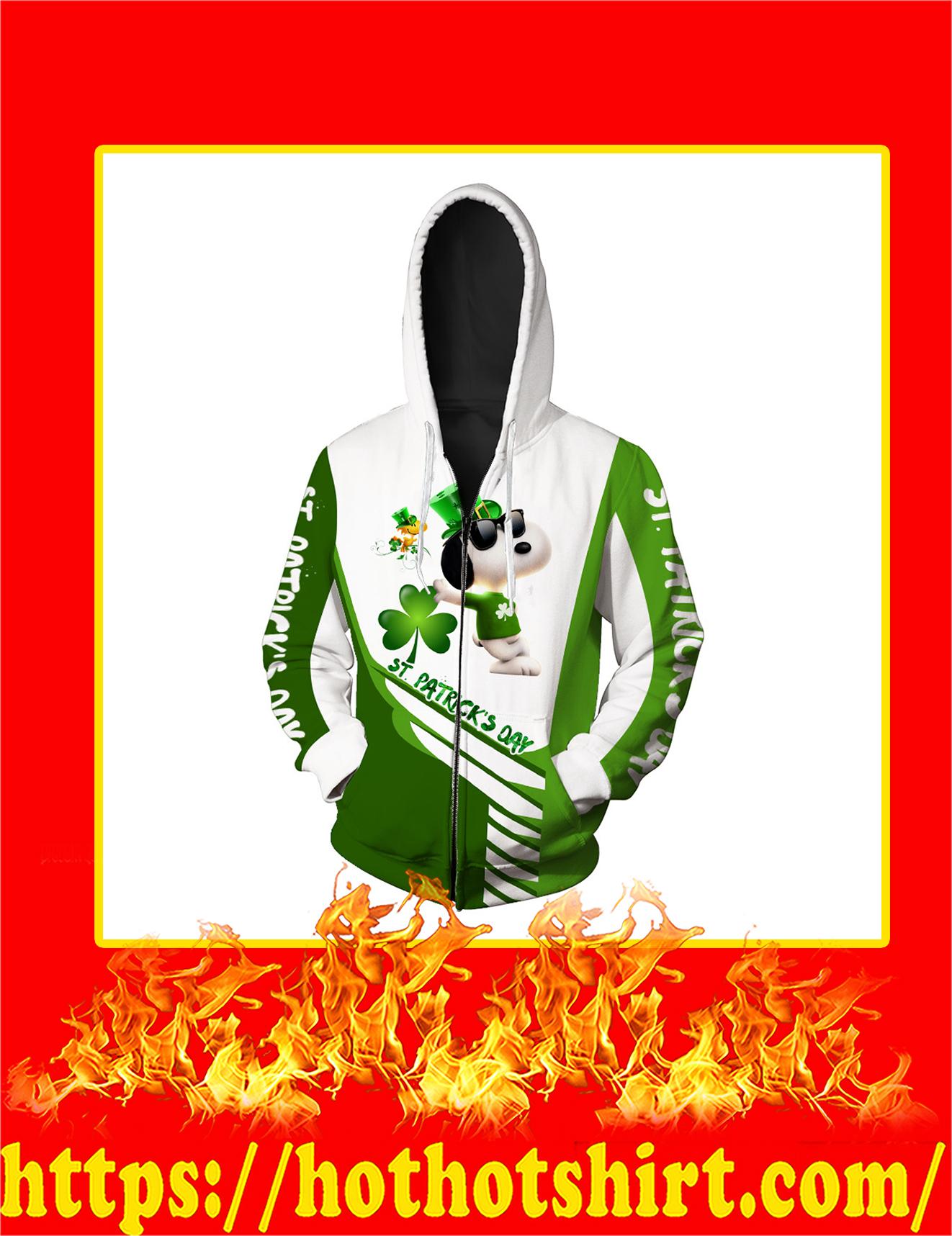 Irish Saint Patrick's Day Snoopy All Over Print Zip Hoodie