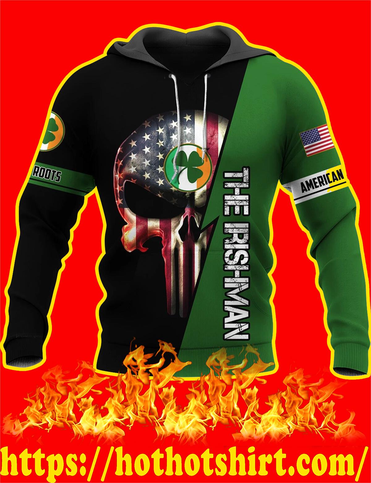 Irishman Irish Punisher Skull 3D Hoodie