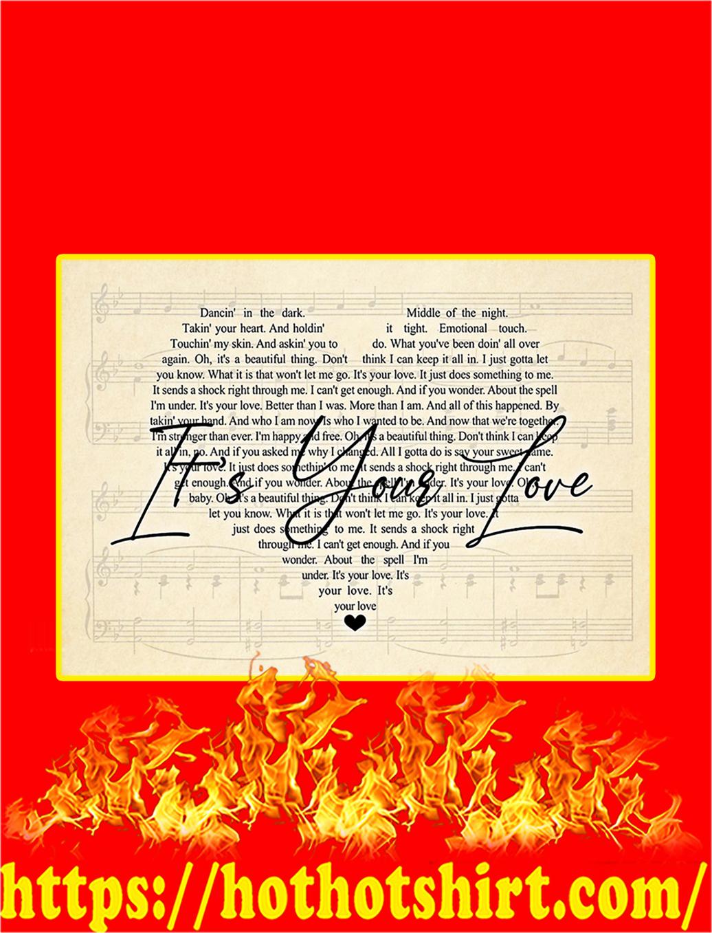 It's Your Love Lyrics Poster - A1