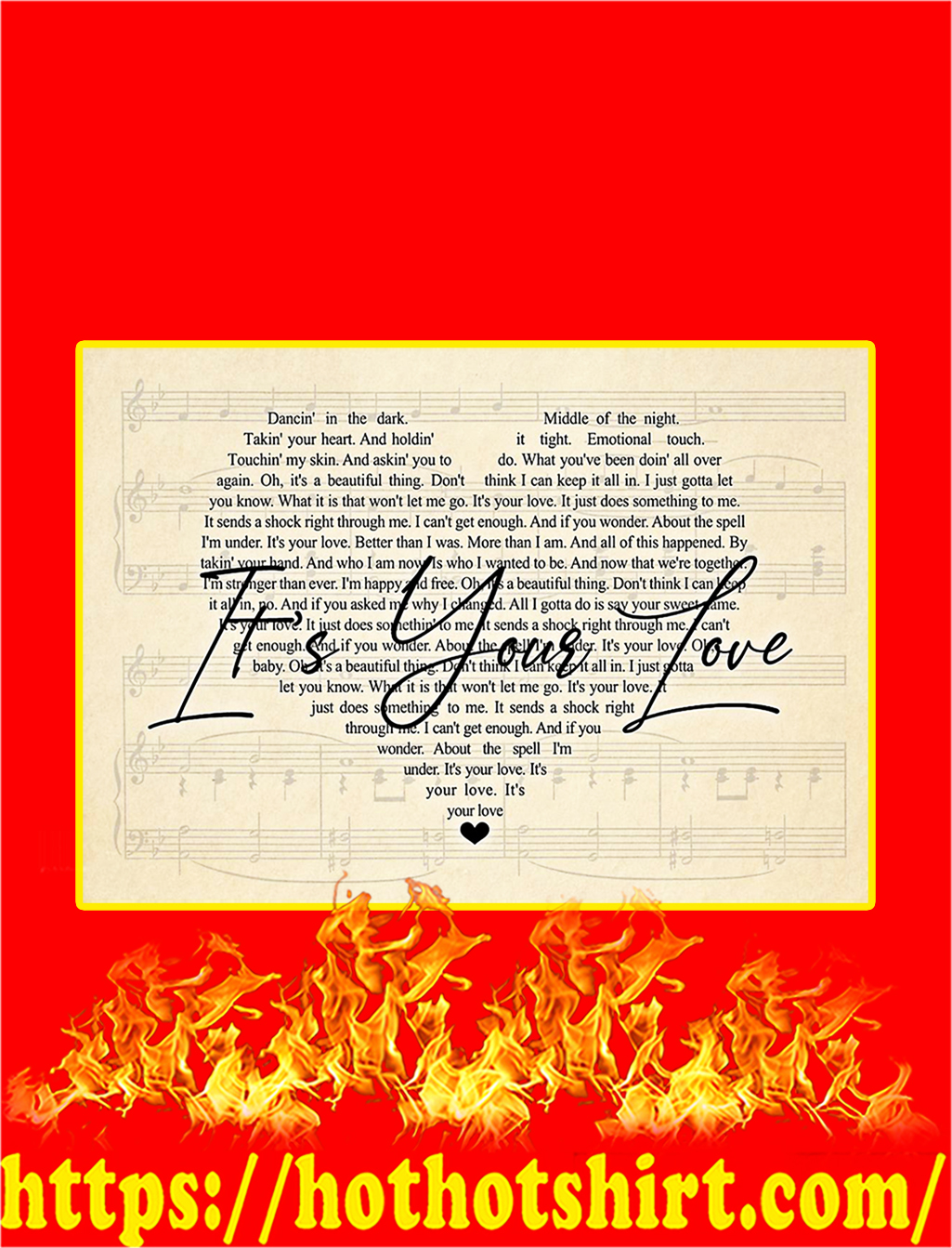 It's Your Love Lyrics Poster - A3