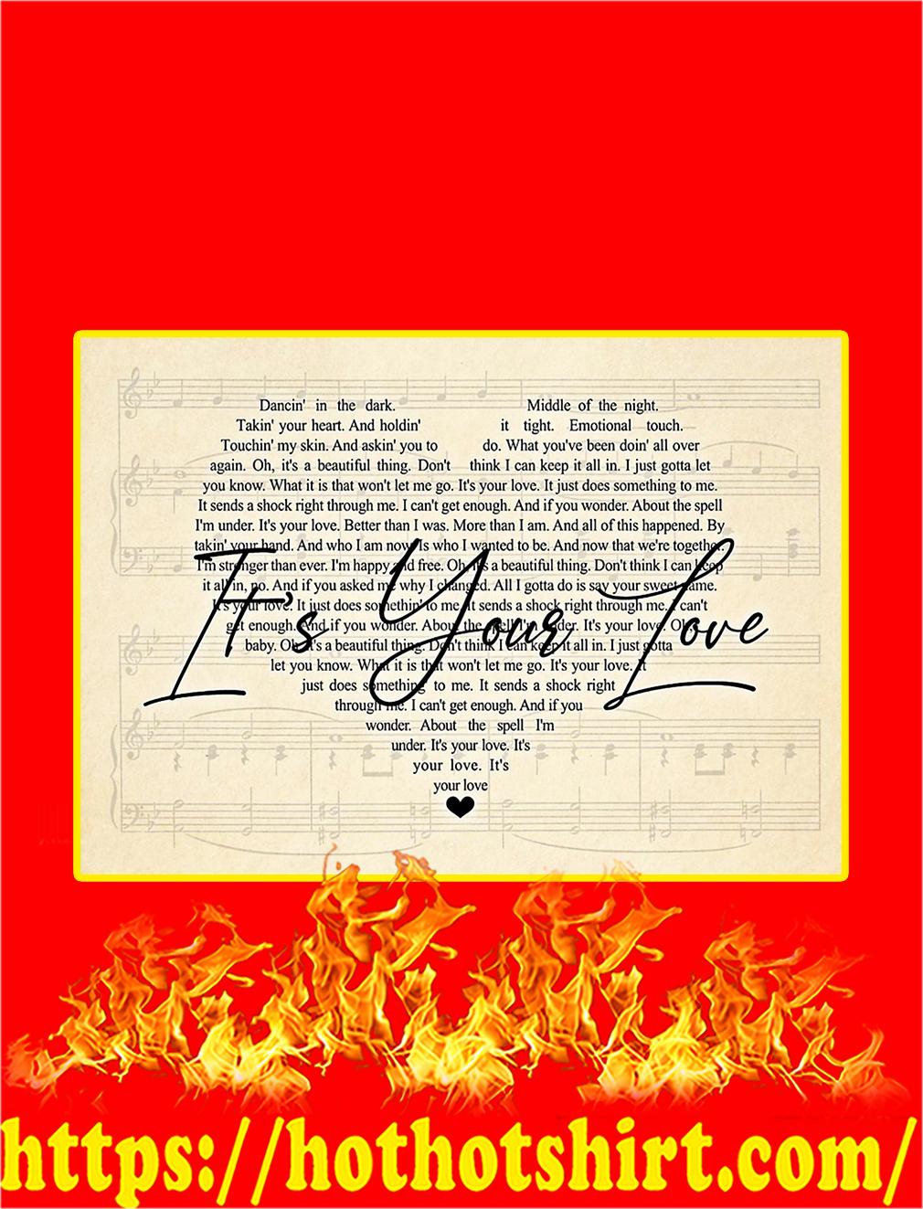 It's Your Love Lyrics Poster - A4
