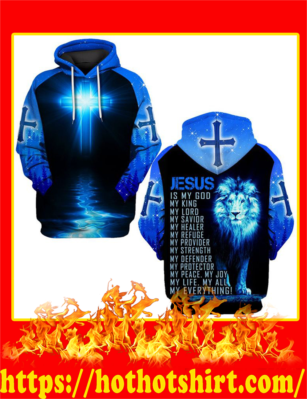 Jesus Is My God My Everything Lion All Over Printed Hoodie
