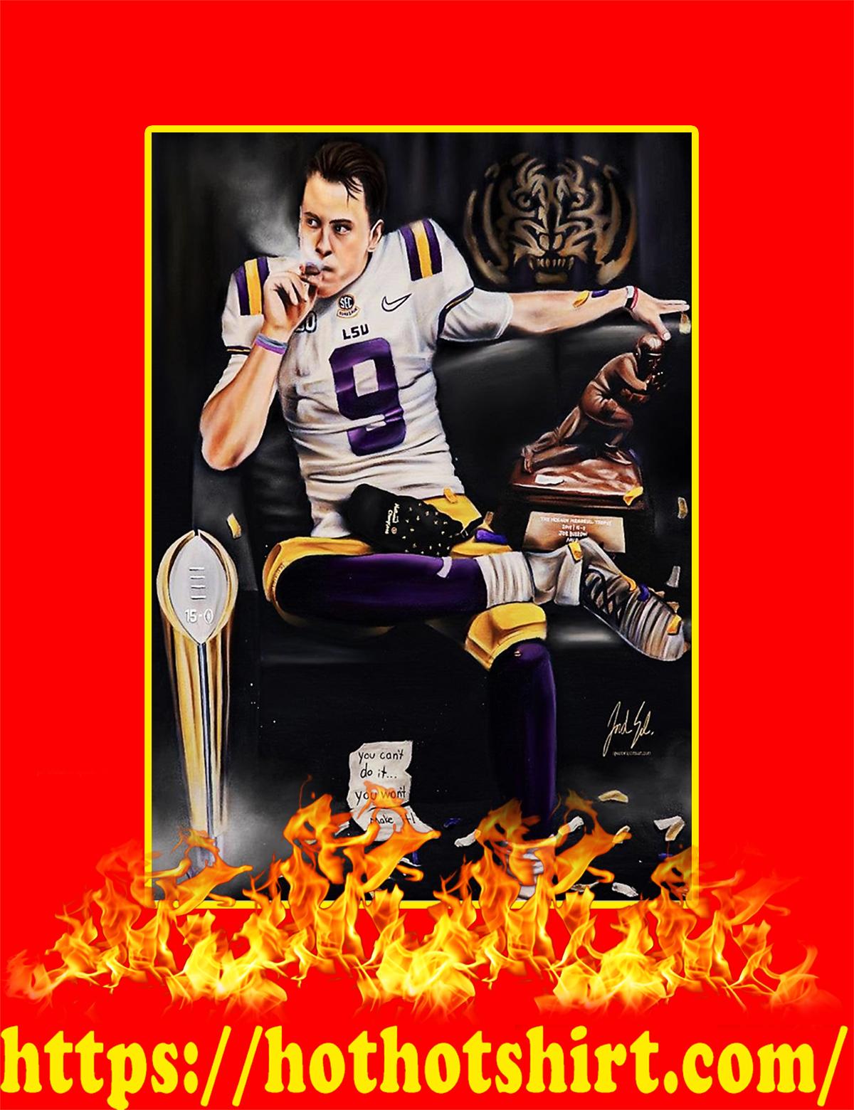 Joe Burrow Smoking Cigar Poster - A4
