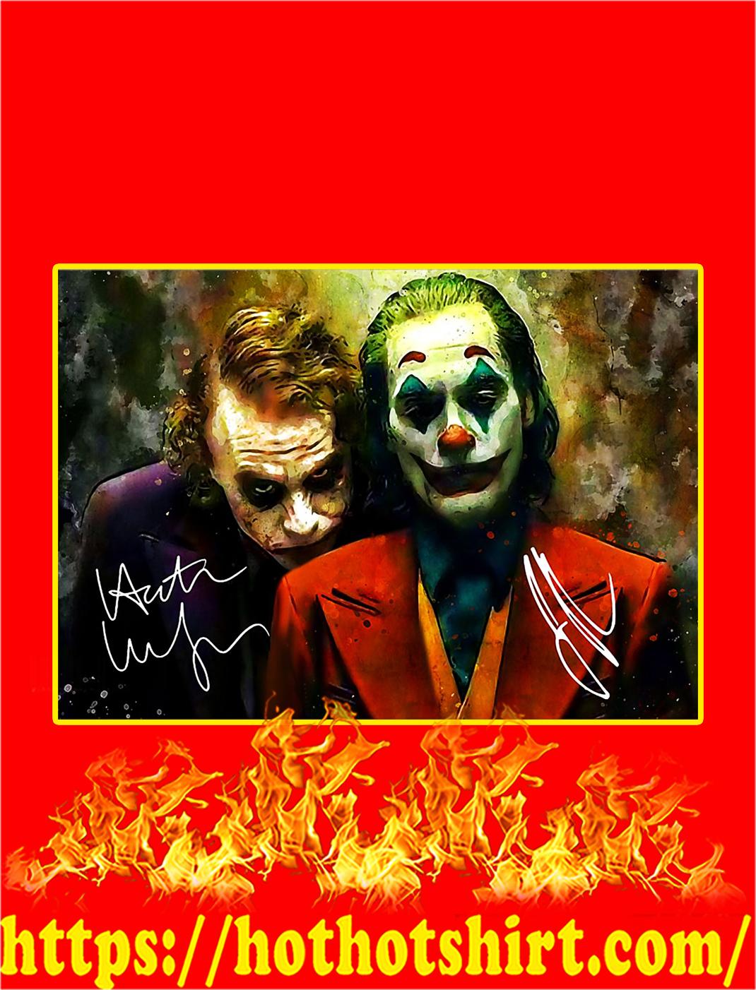 Joker Art Signature Poster