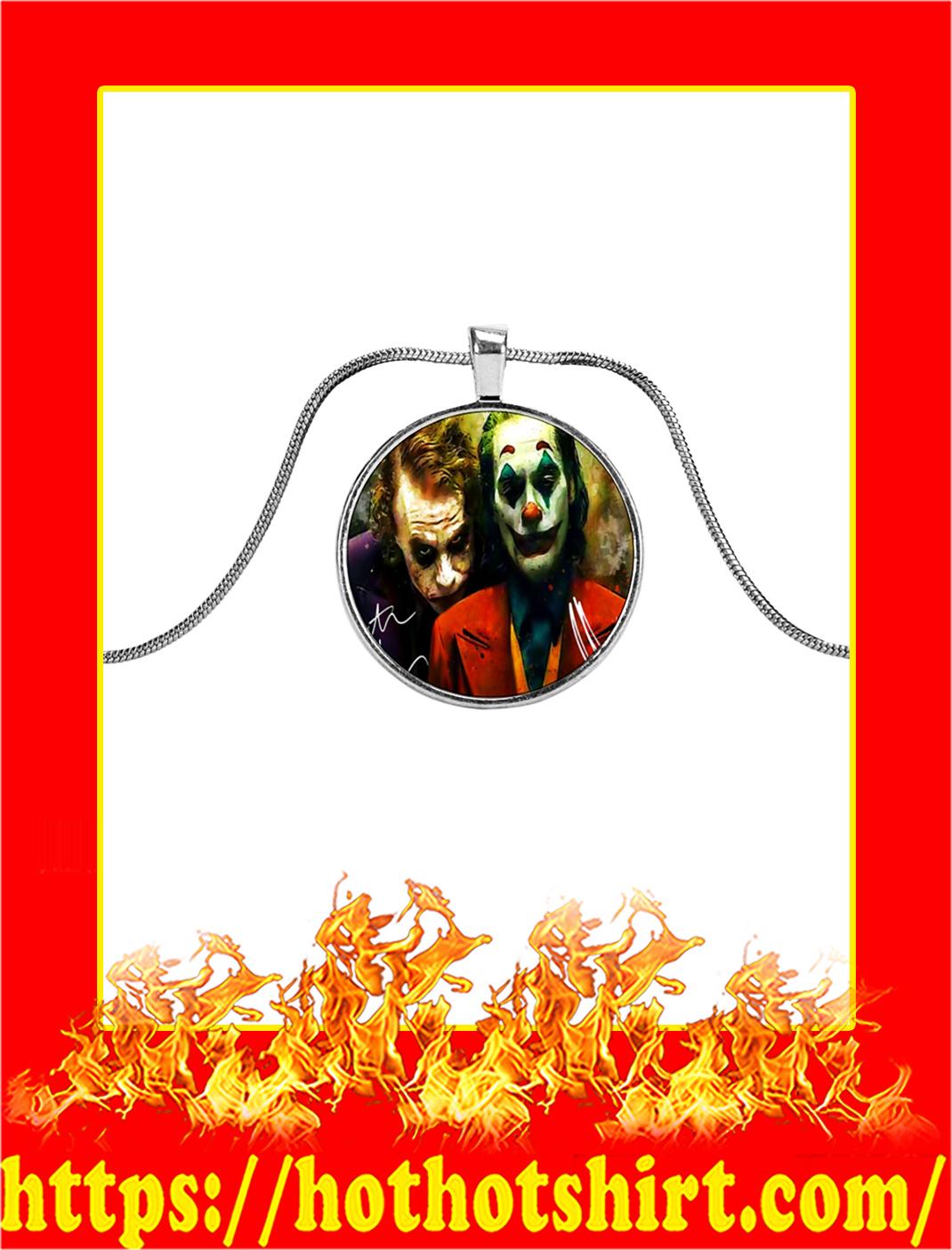Joker Joaquin Phoenix and Heath Ledger Signature Necklace