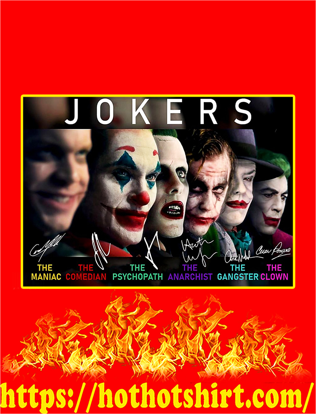 Jokers The Maniac The Comedian Poster - A3