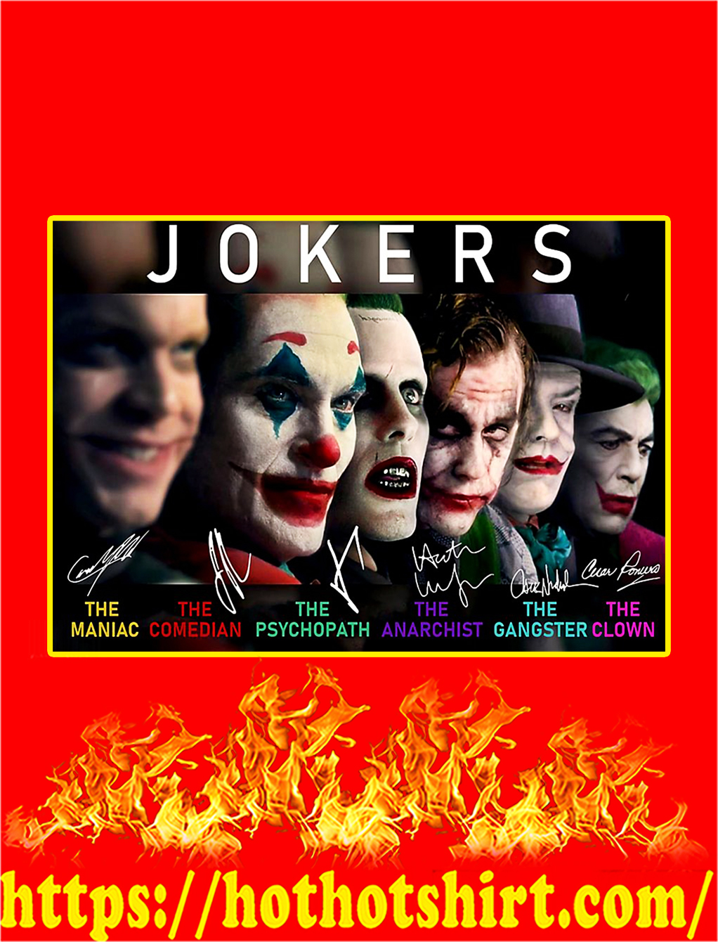 Jokers The Maniac The Comedian Poster - A4