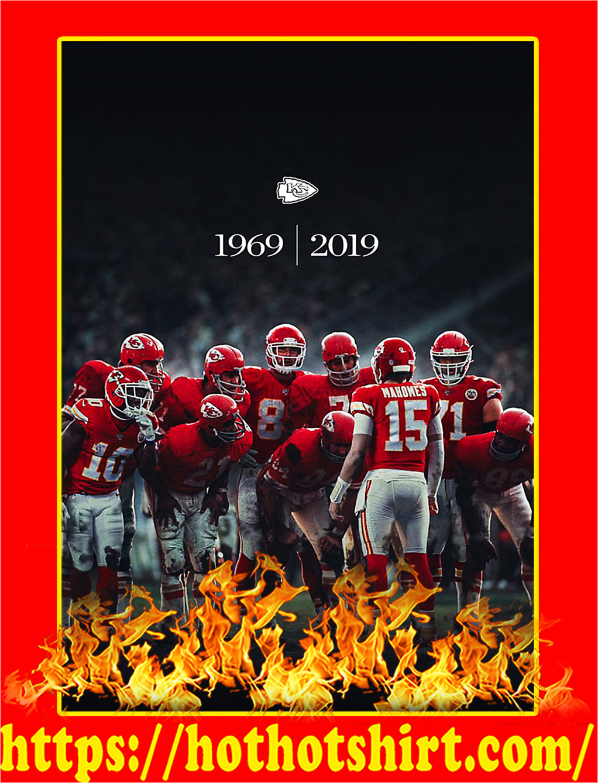 Kansas City Chiefs 1969 2019 Super Bowl Champions Poster - A2