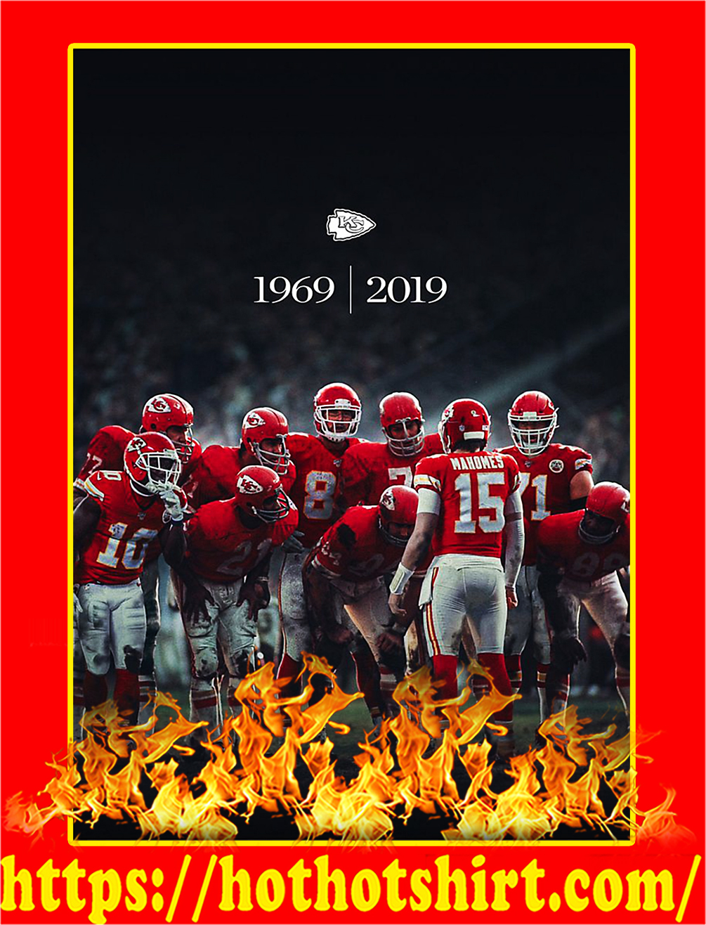 Kansas City Chiefs 1969 2019 Super Bowl Champions Poster - A4