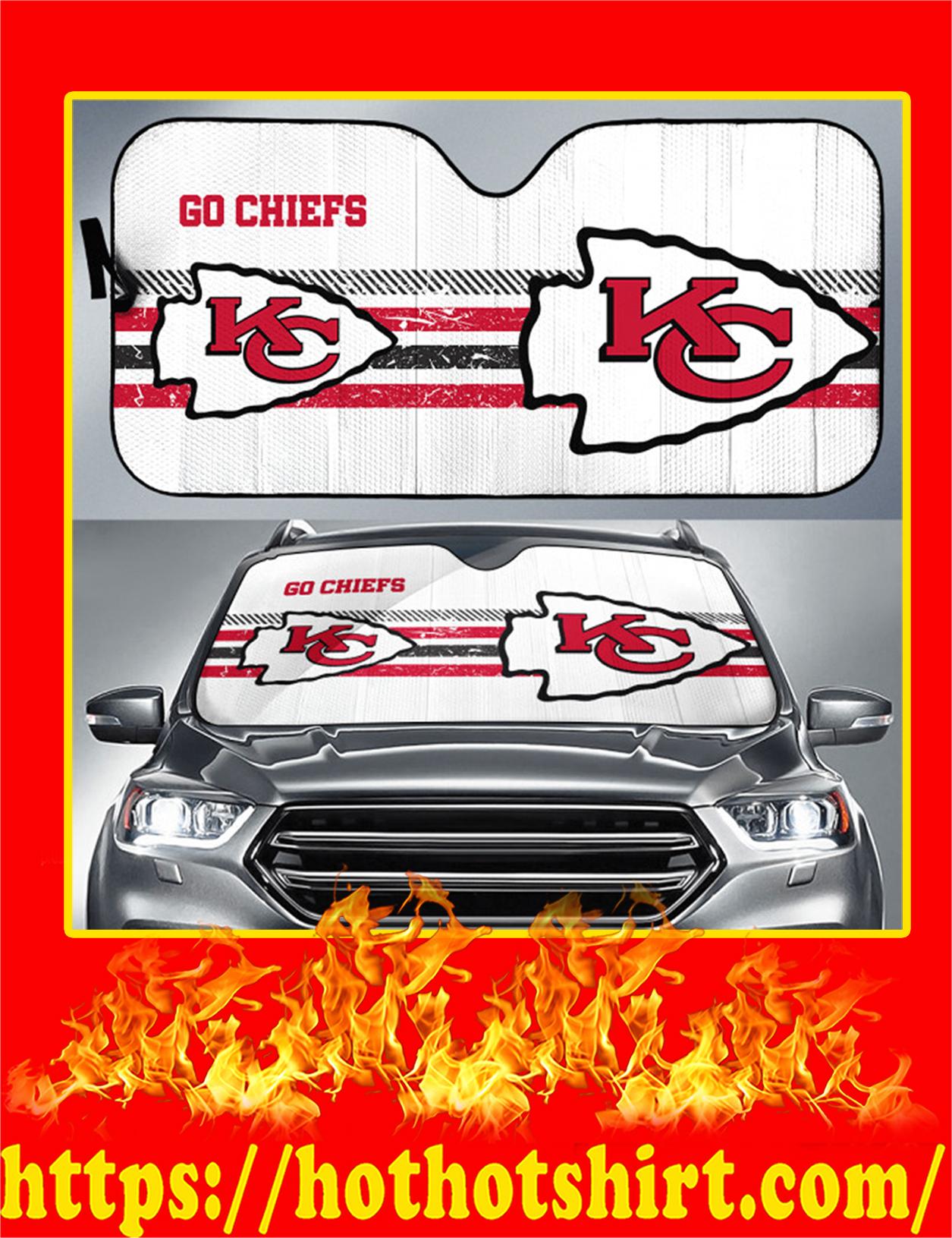 Kansas City Chiefs Go Chiefs Auto Sun Shade