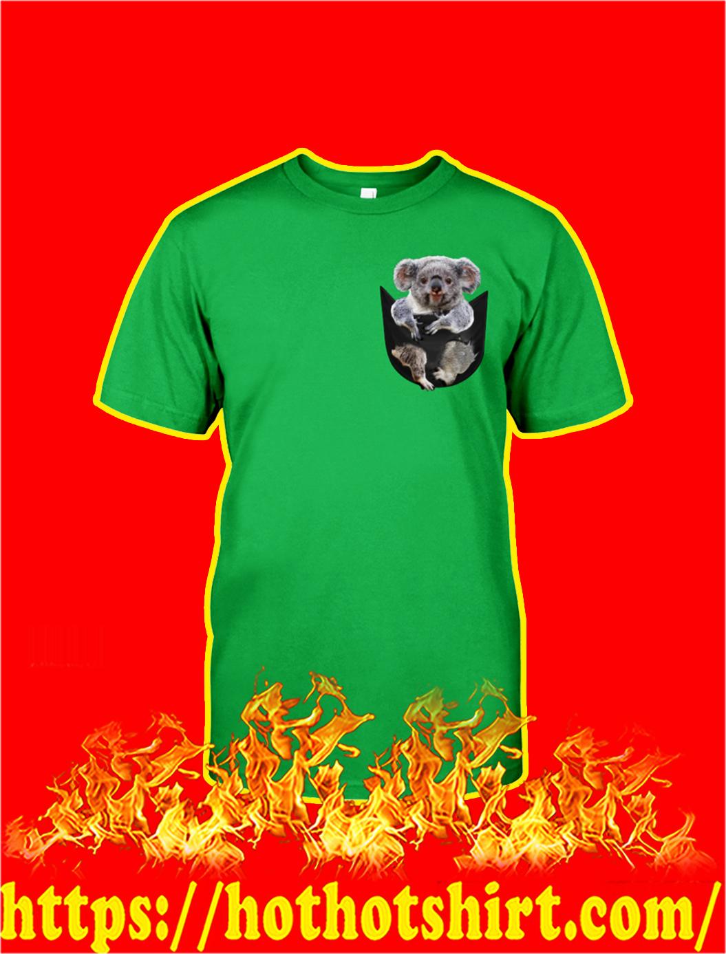 Koala In Pocket shirt- green
