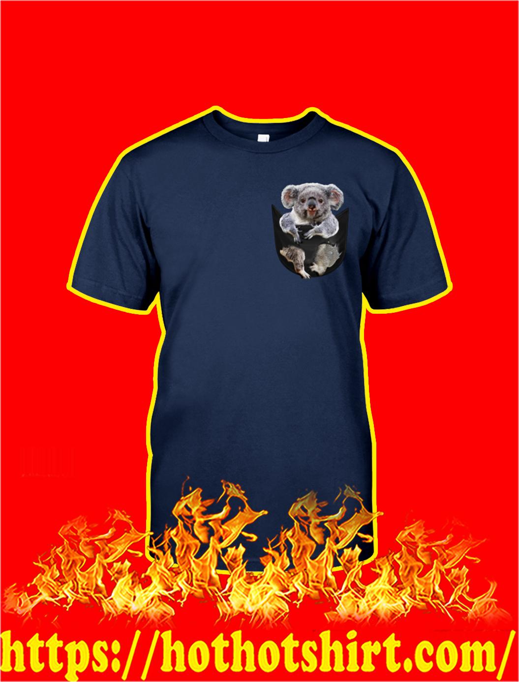 Koala In Pocket shirt- navy