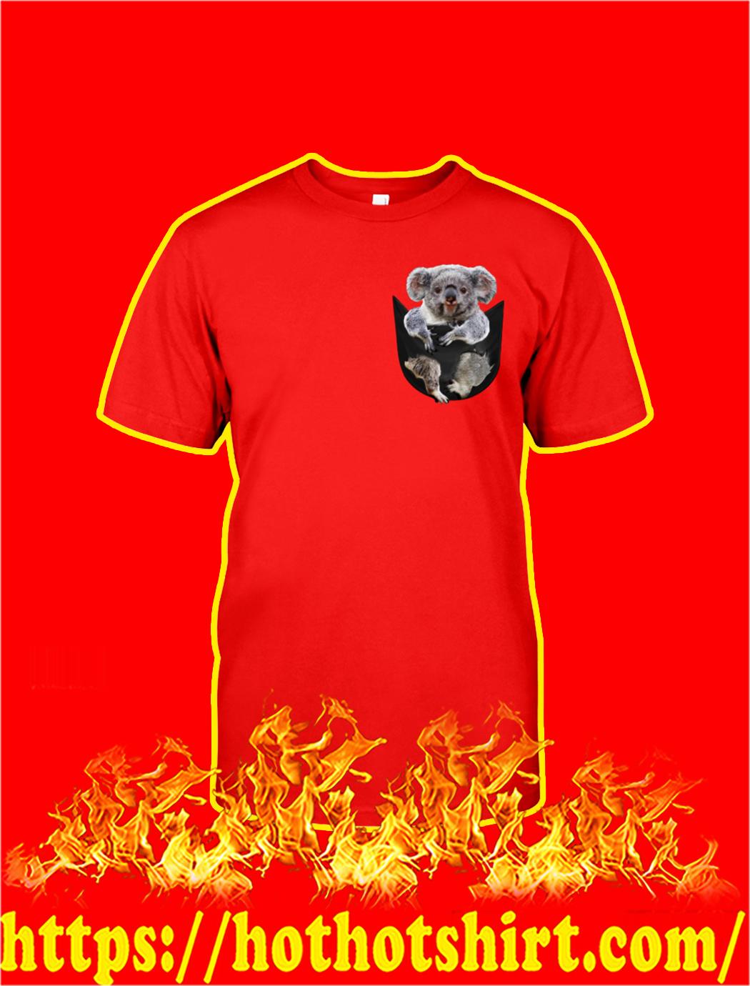 Koala In Pocket shirt- red