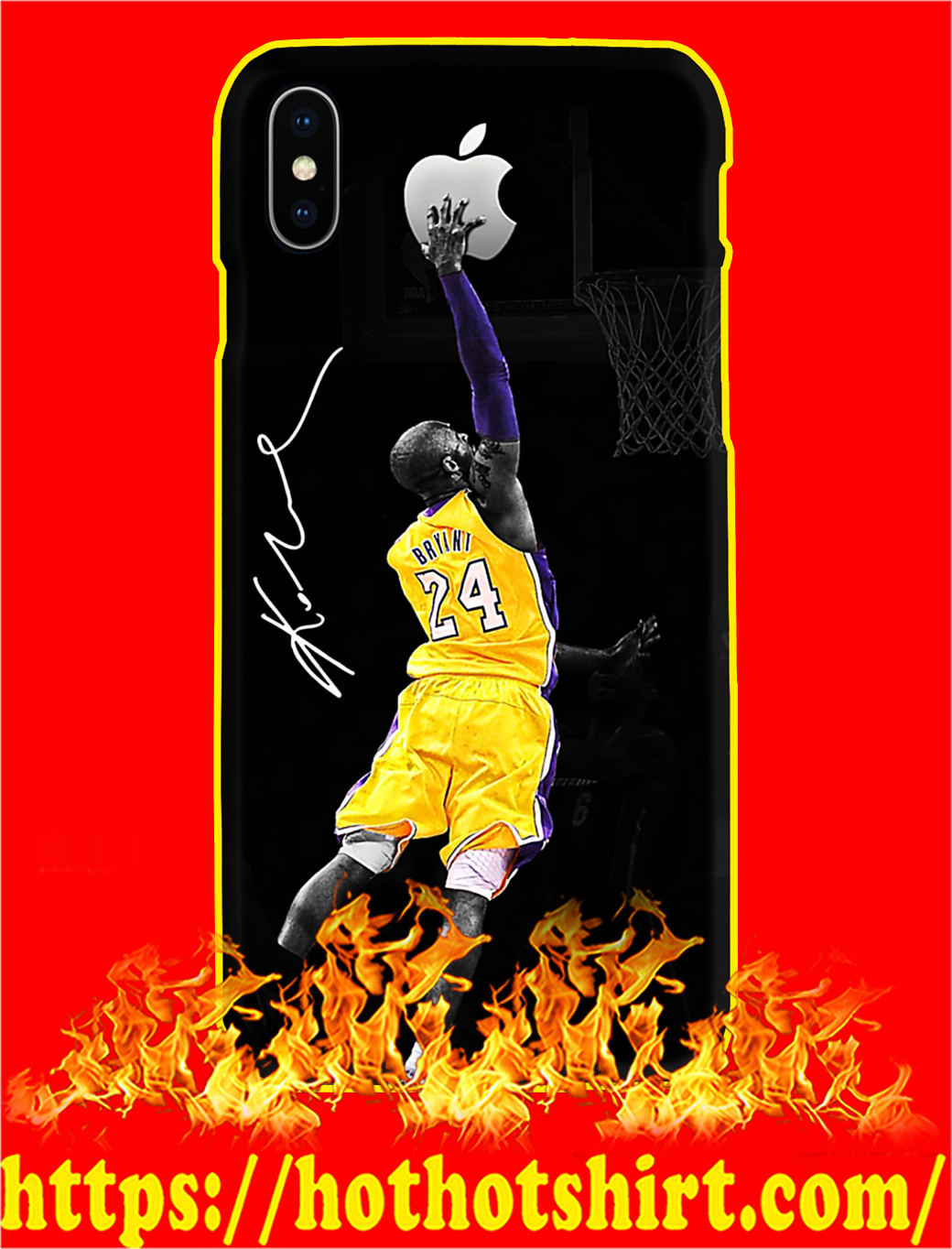 Kobe Bryant Apple Phone Case- iphone X