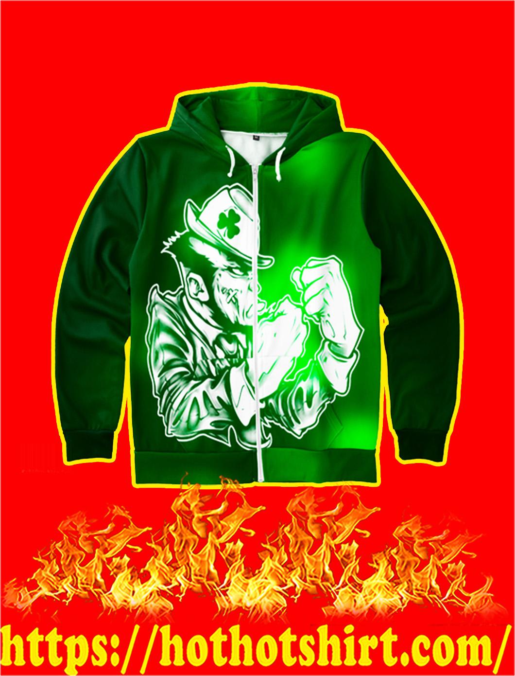 Leprechaun Patrick All-Over Print Hoodie- front