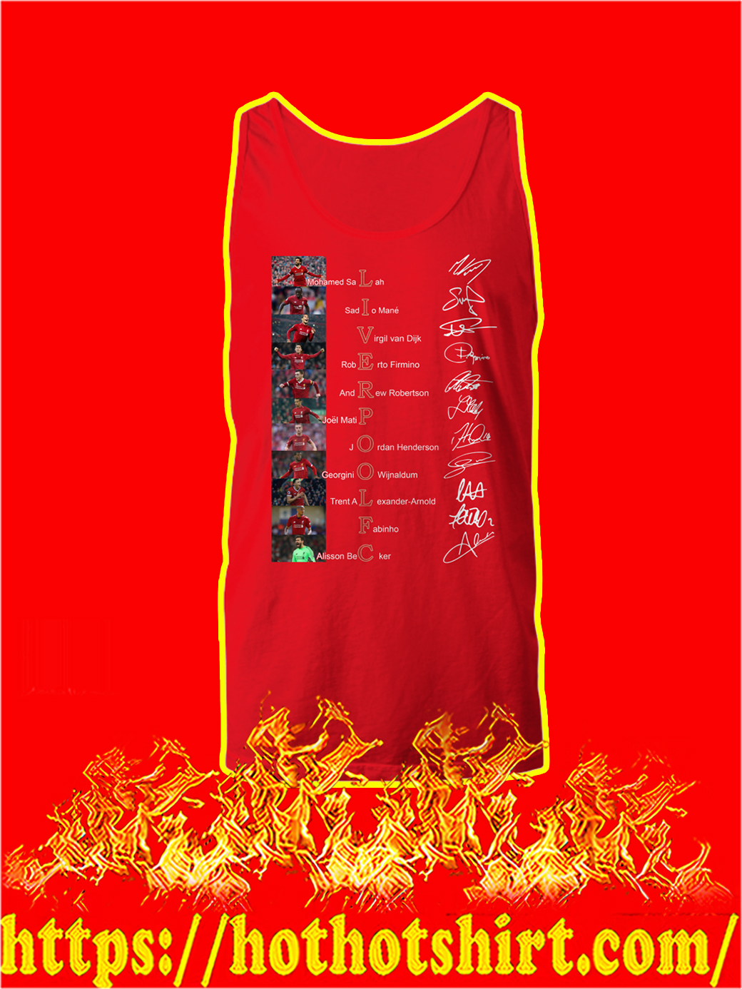 Liverpool FC Players Names Signature tank top