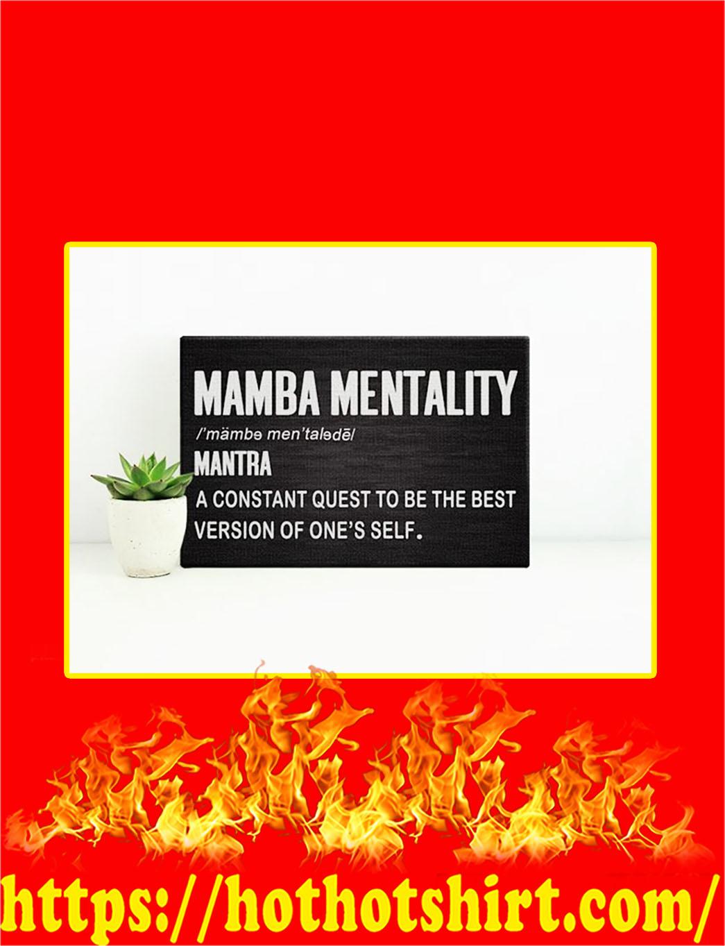 Mamba Mentality Canvas Prints - Large