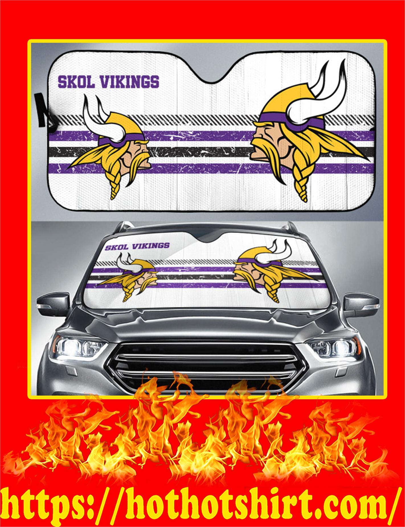Minnesota Viking Auto Sun Shade