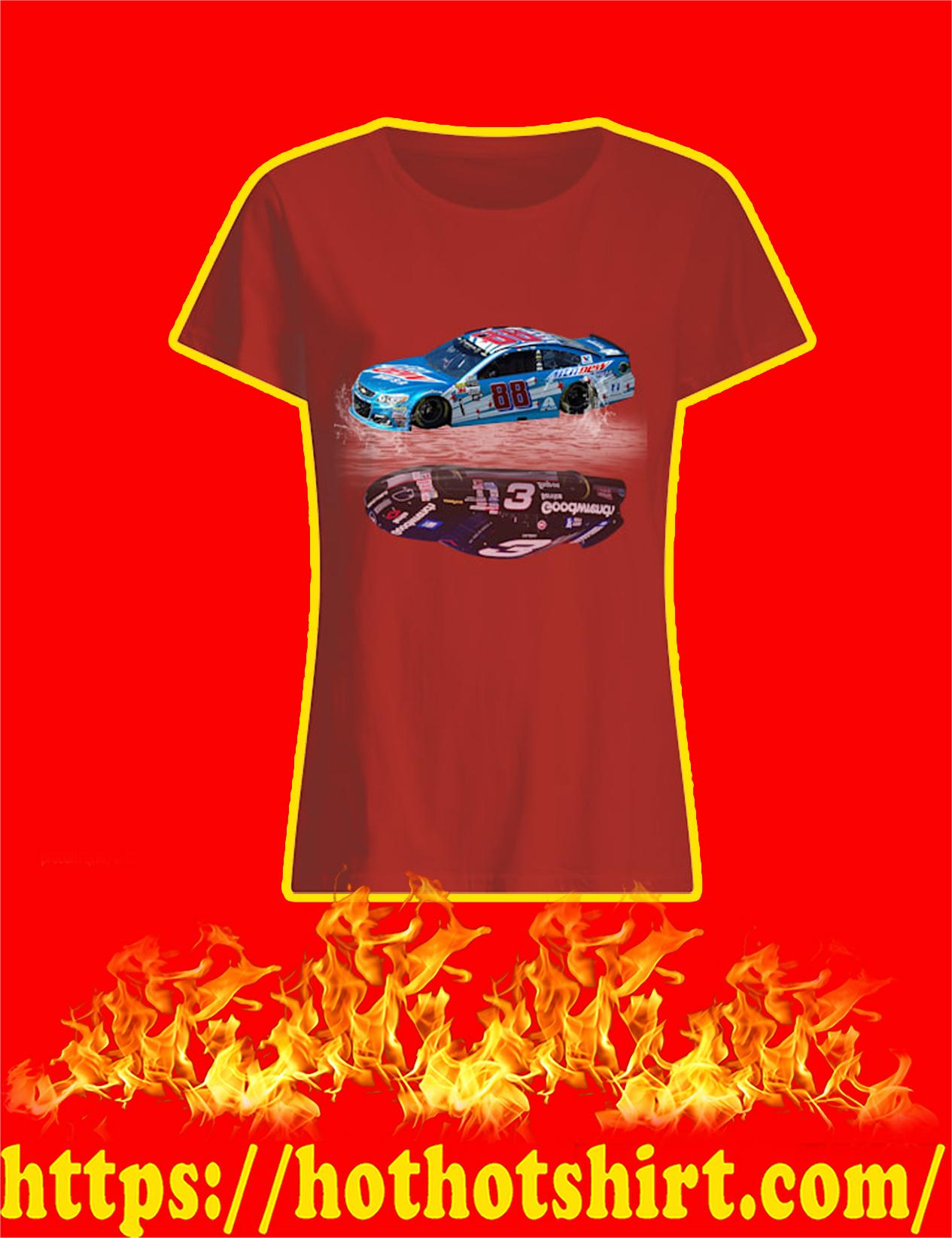 Nascar Car Number 88 Mirror Reflection Car Number 3 Women Shirt