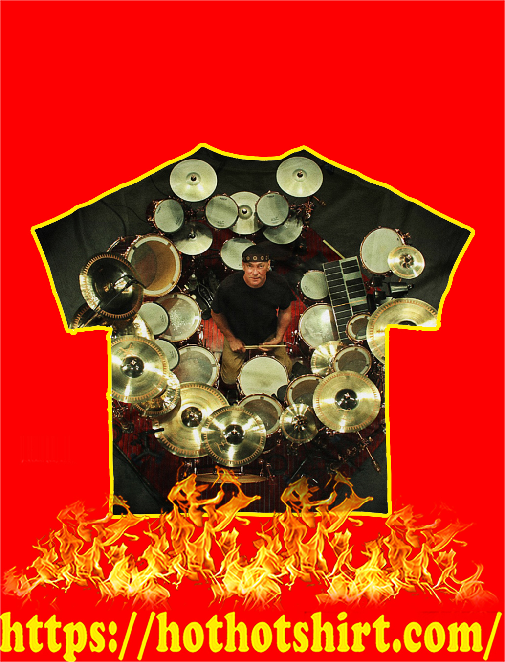 Neil Peart And Drums Unique All-Over T-Shirt- back