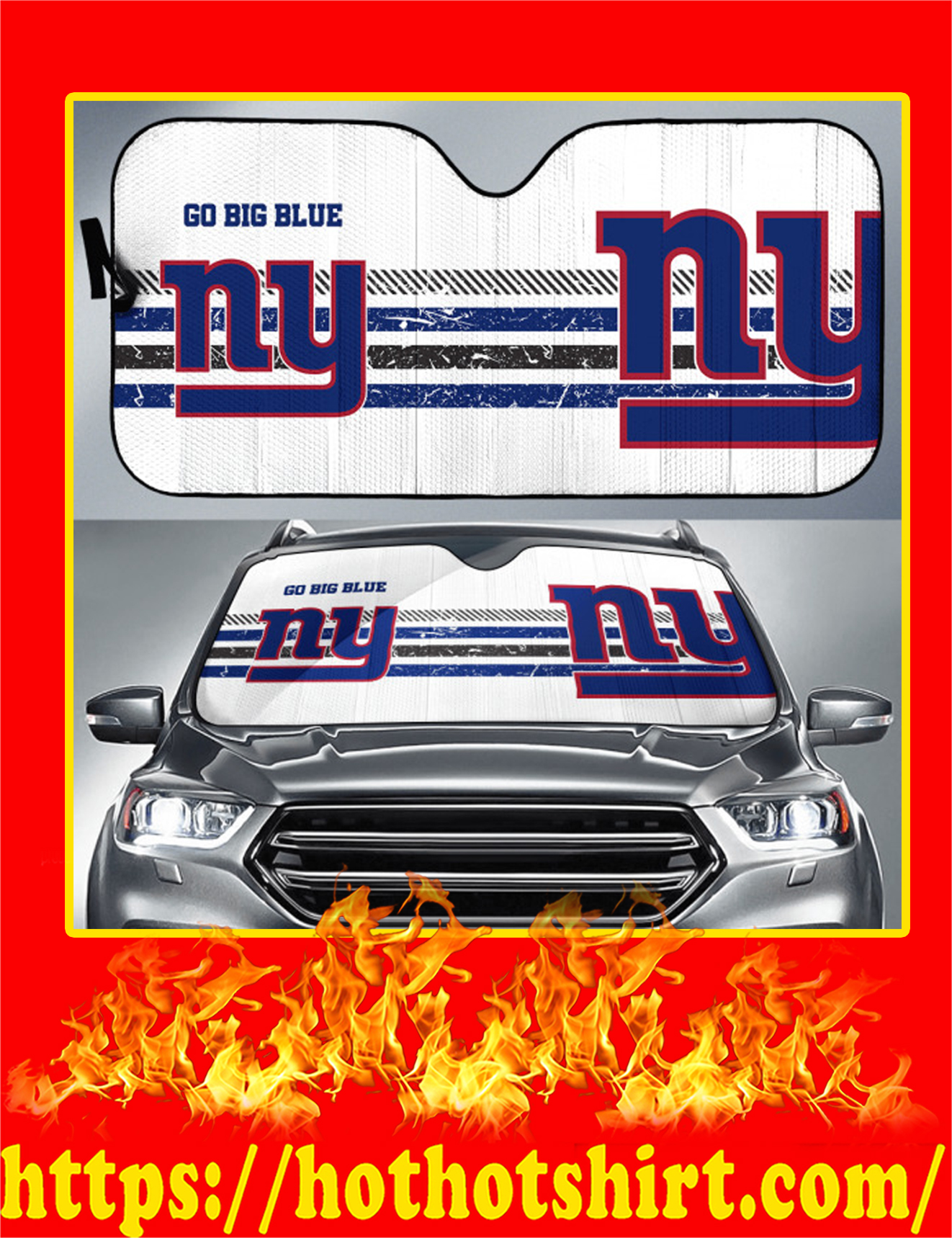 New York Giants Auto Sun Shade