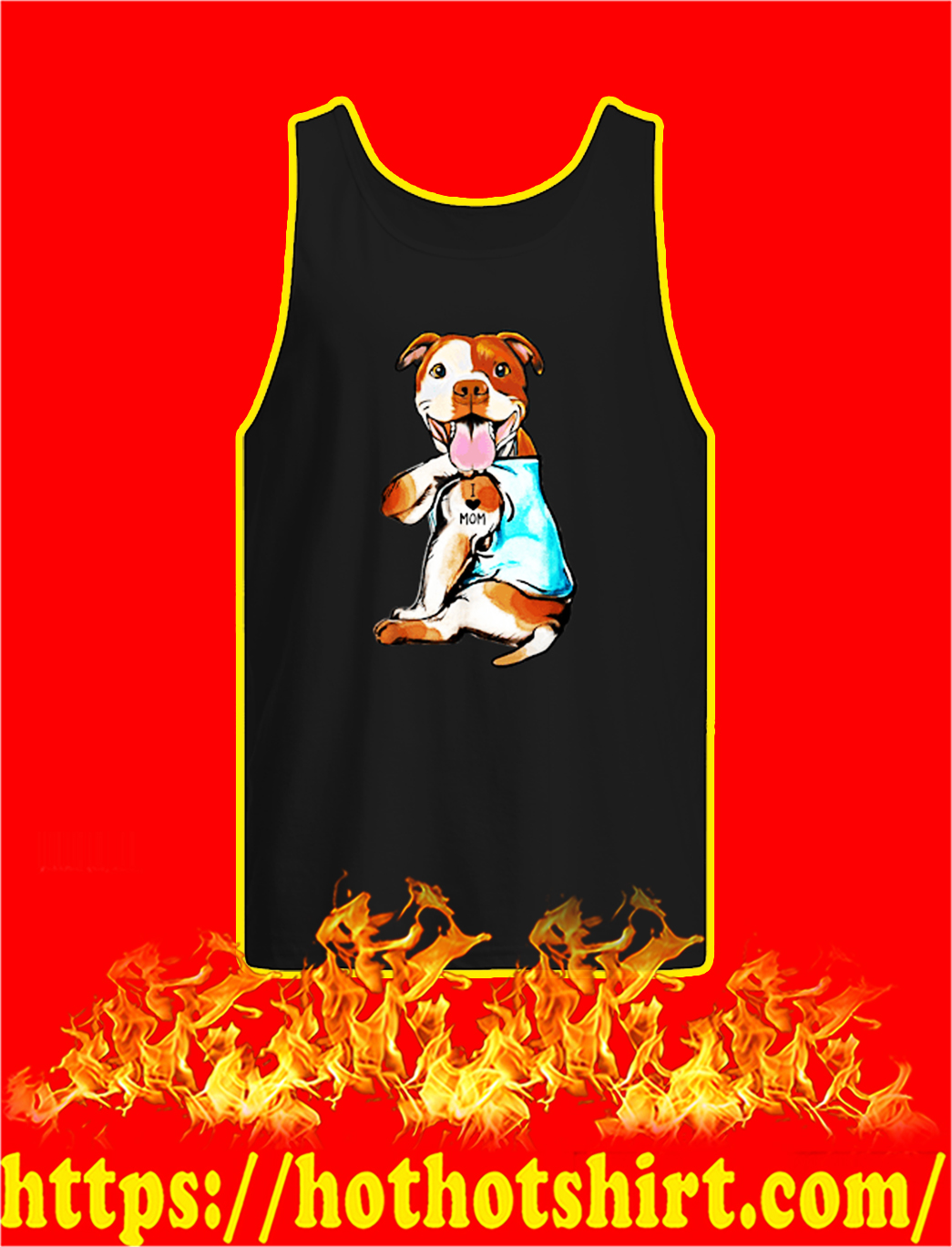 Pit Bull I Love Mom tank top