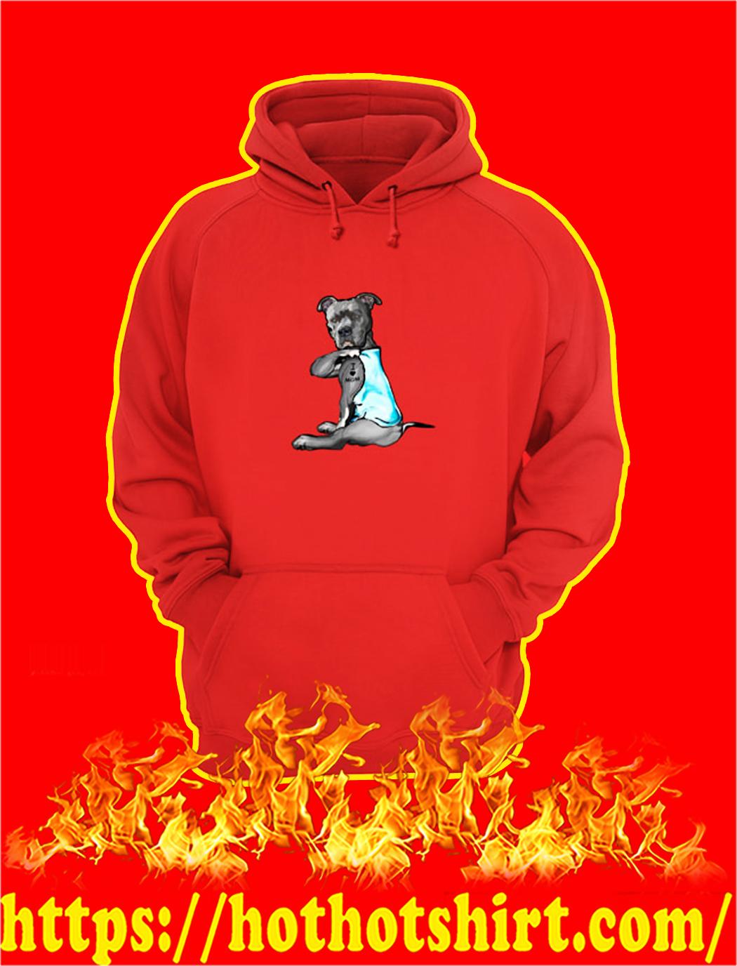 Pitbull I Love Mom hoodie