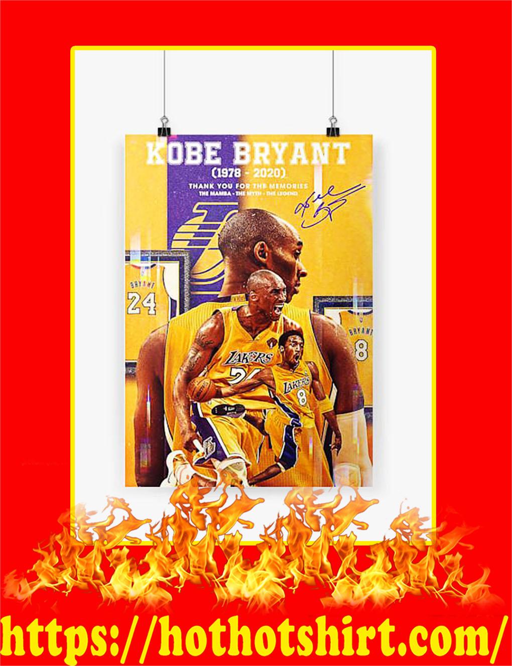 RIP Kobe Bryant Poster - A4