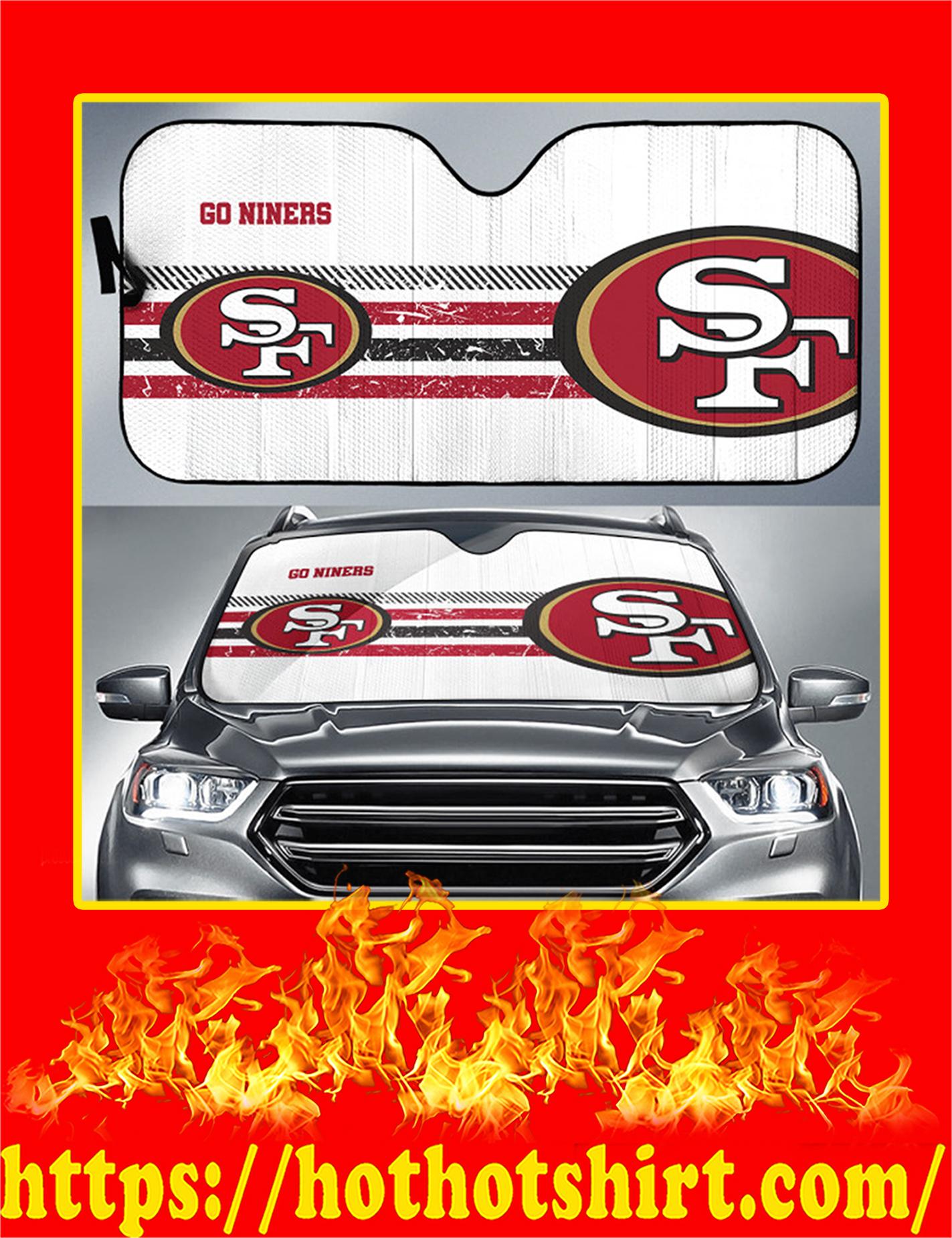SF 49ers Go Niners Auto Sun Shade - Detail