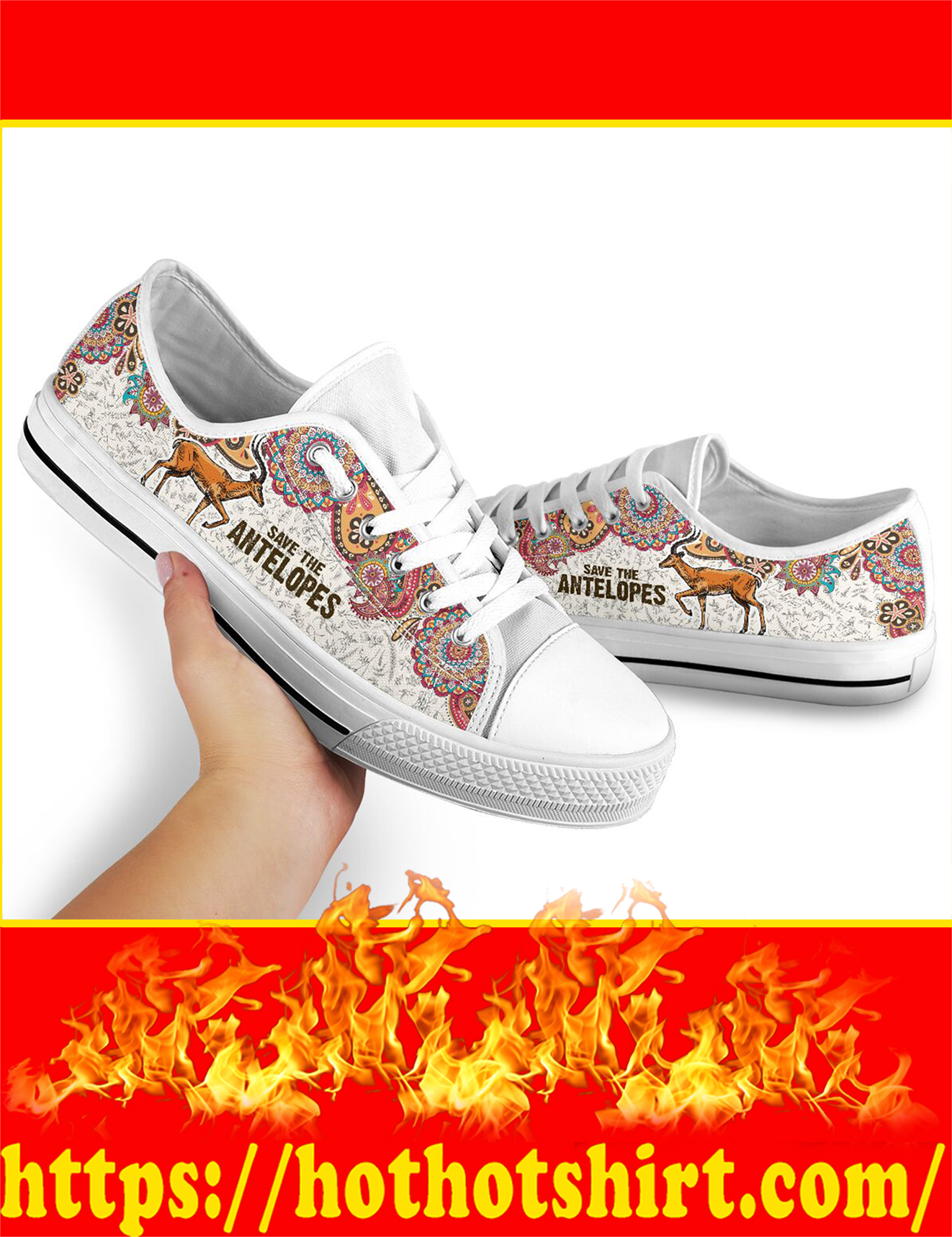 Save The Antelopes Low Top - Picture 2