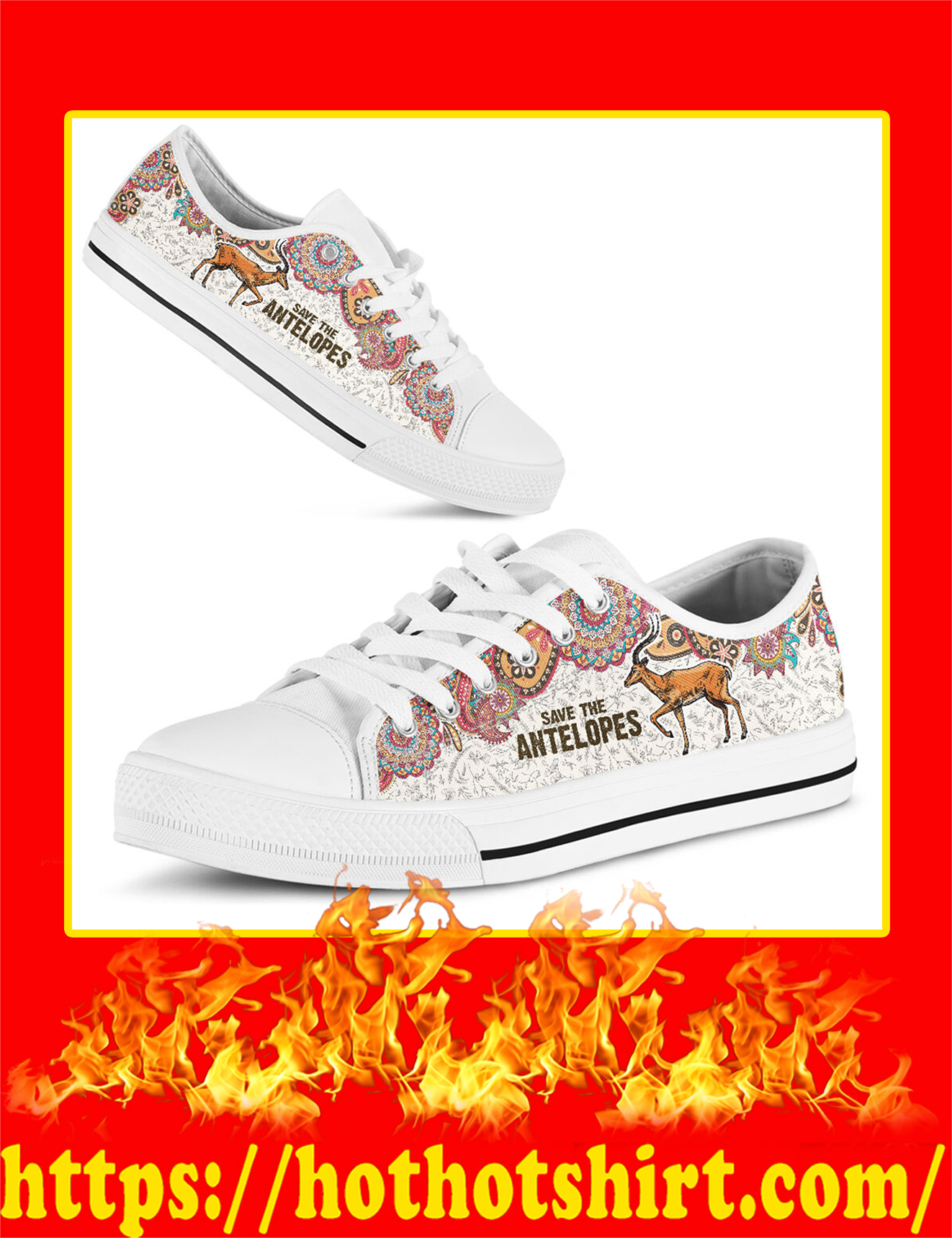 Save The Antelopes Low Top - Picture 3