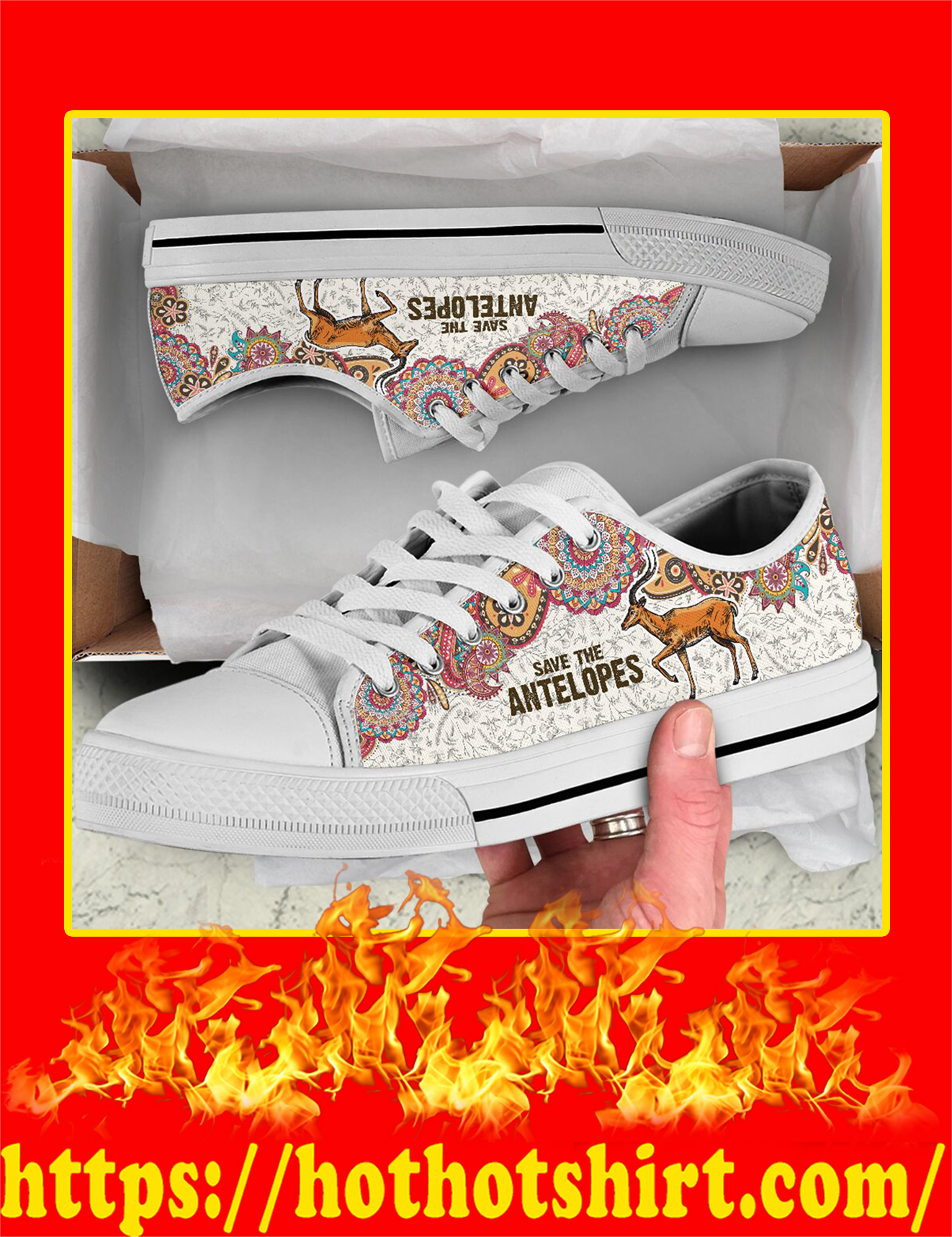 Save The Antelopes Low Top