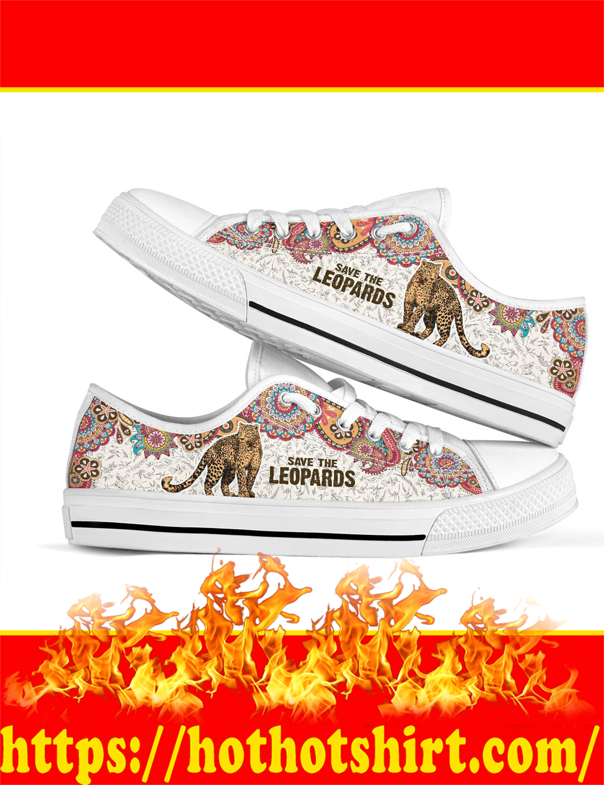Save The Leopards Low Top - Picture 1