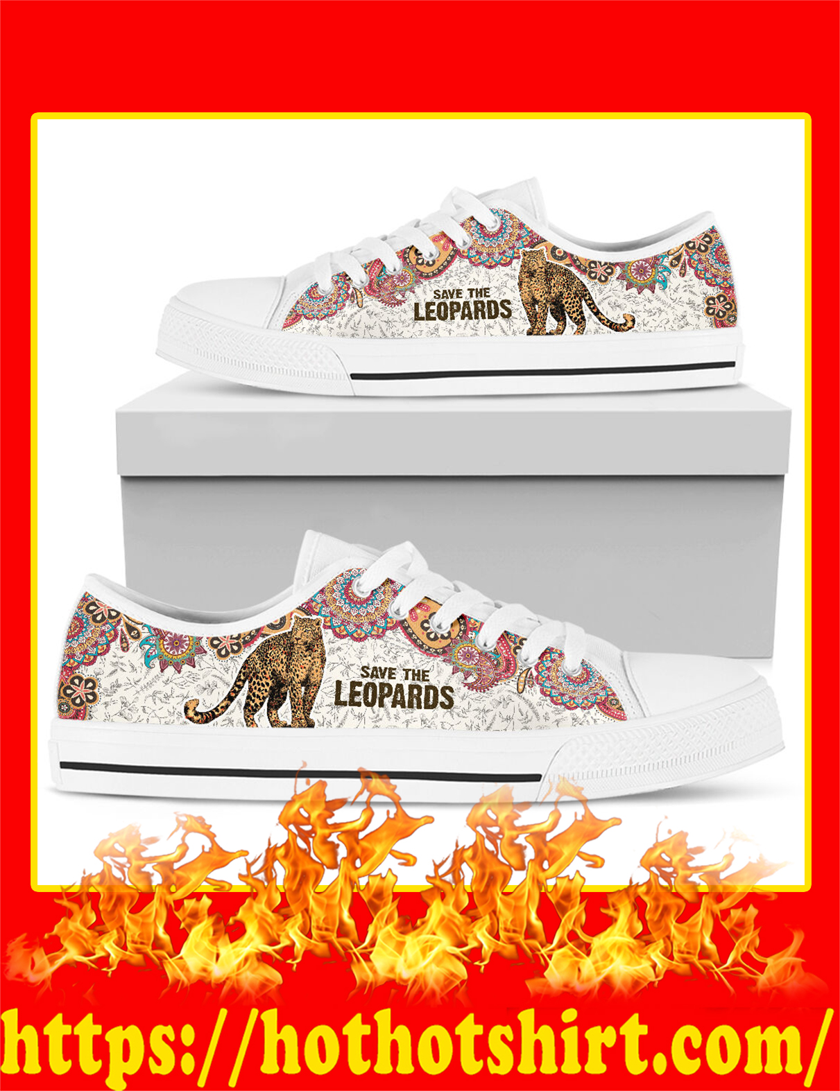 Save The Leopards Low Top - Picture 2
