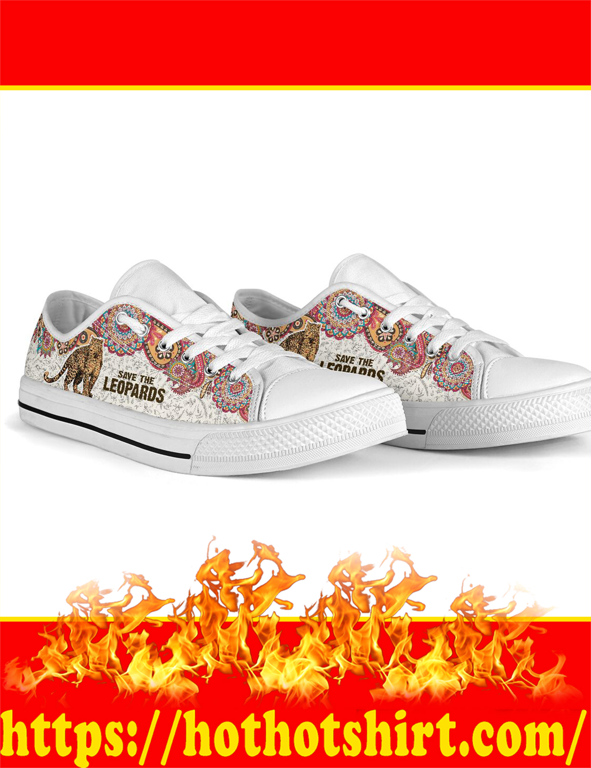Save The Leopards Low Top - Picture 3