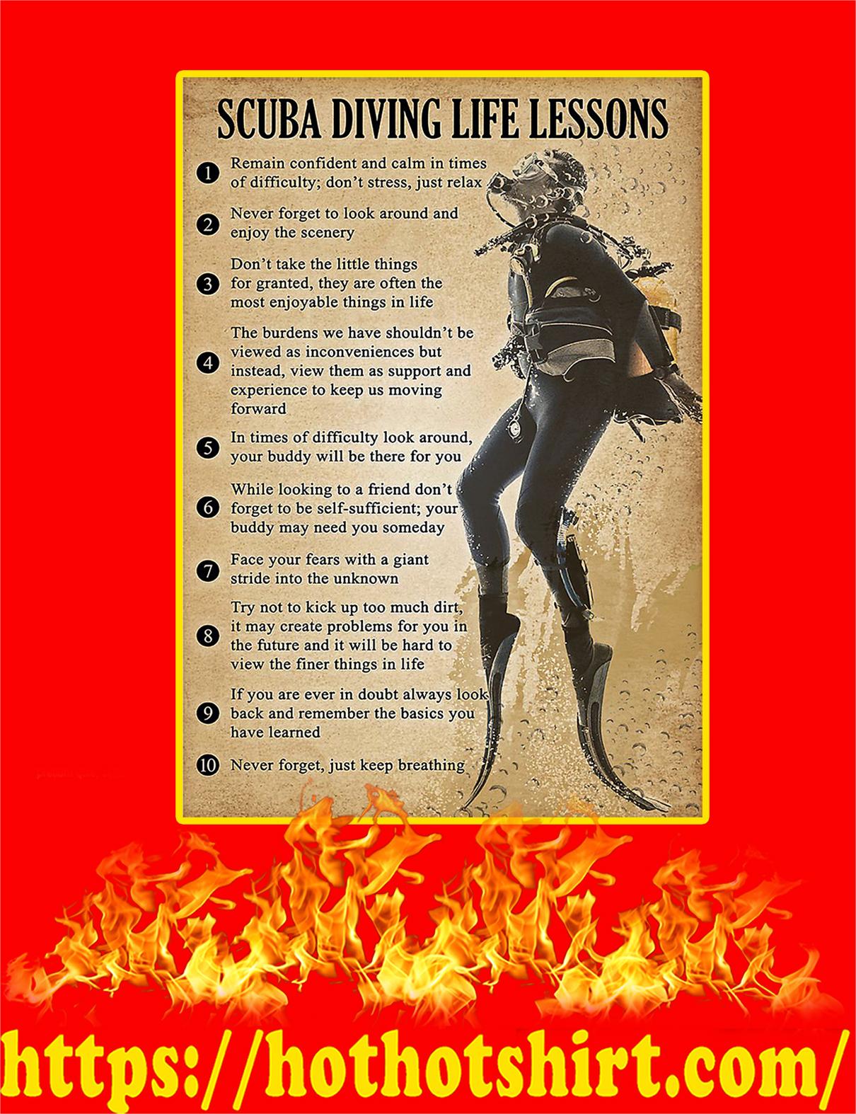 Scuba Diving Life Lessons Poster - A4