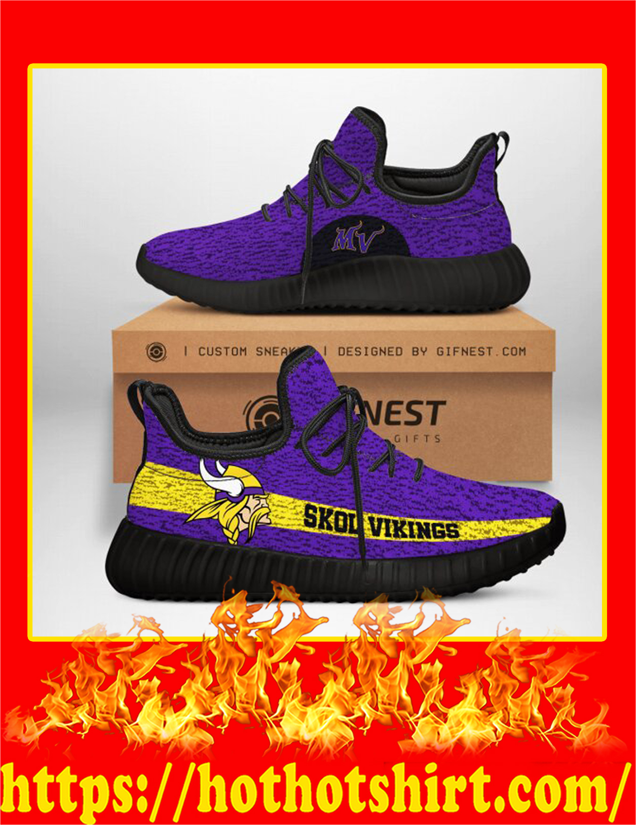 Skol Vikings Minnesota Vikings NFL Yeezy Sneaker - Men