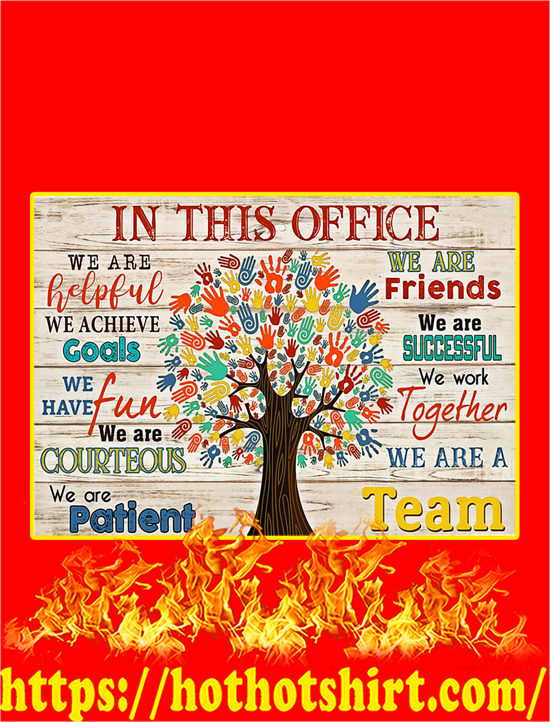 Social Worker Tree In This Office Poster - A3