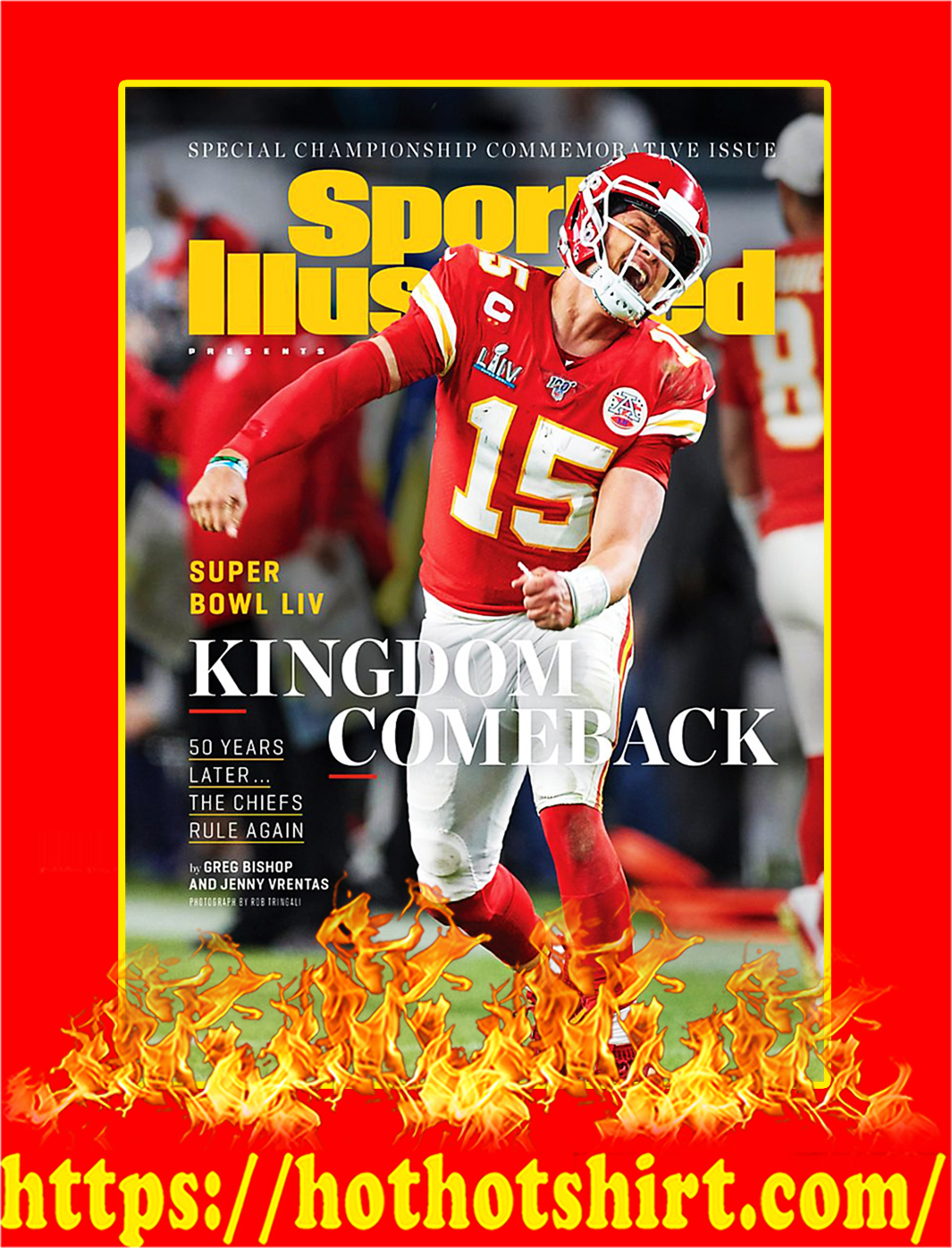 Sports Illustrated Covers Chiefs Kingdom Champion Poster - A4