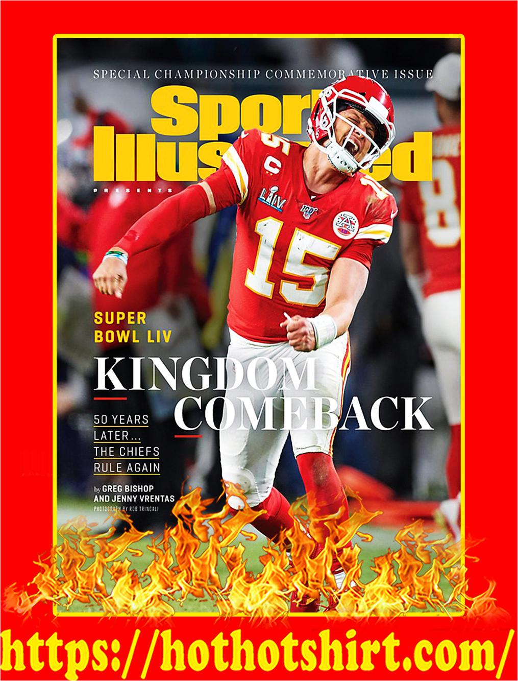 Super Bowl LIV Kingdom Comback Chiefs Poster