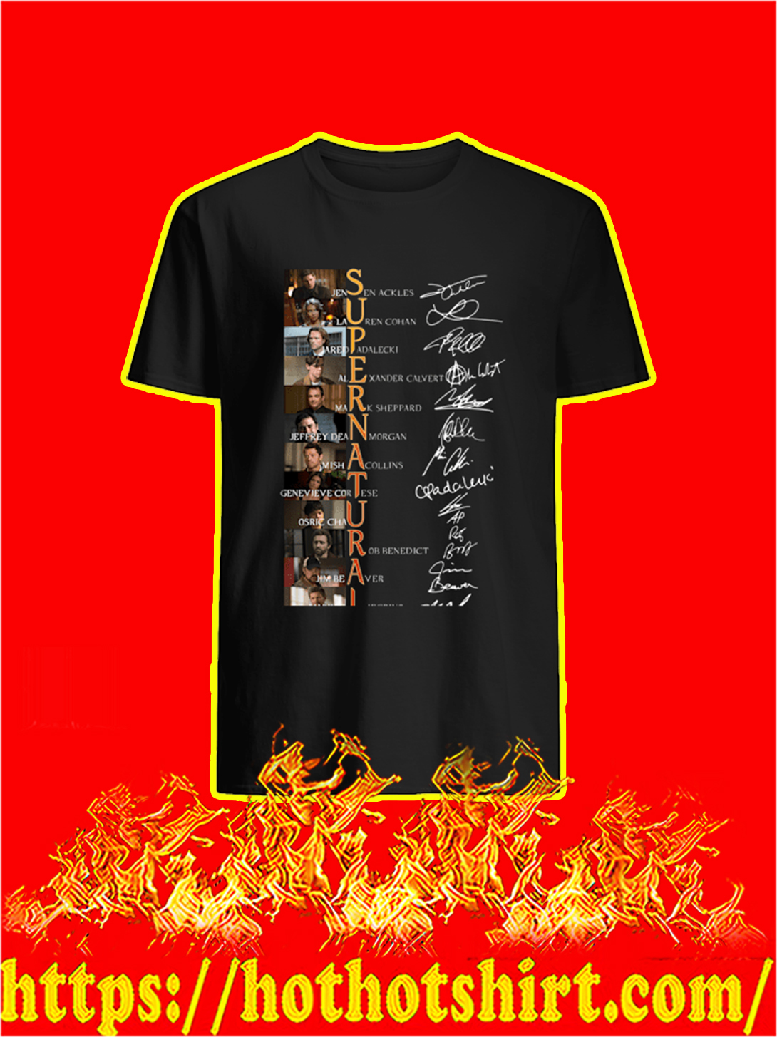 Supernatural All Actor Signature shirt