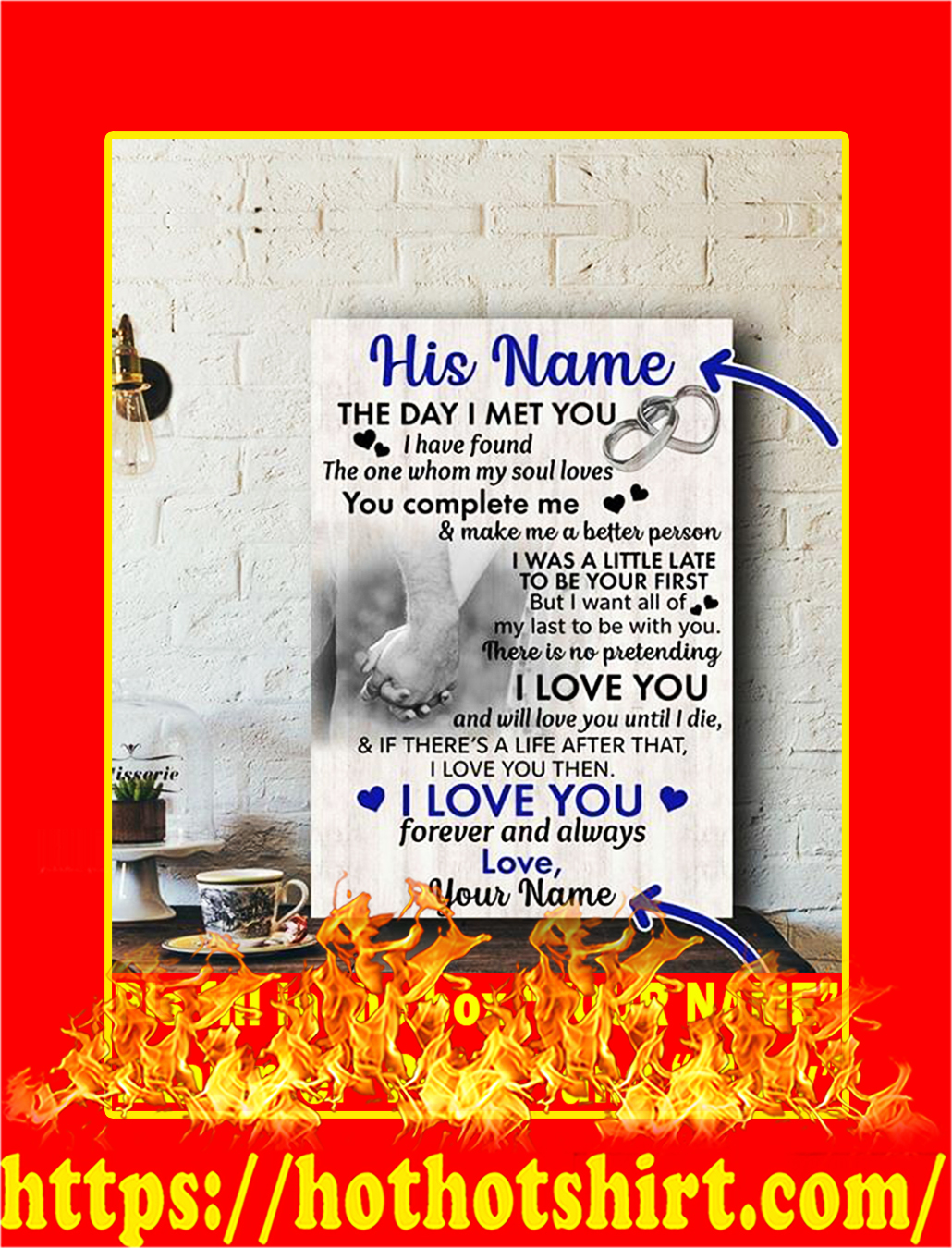 The Day I Met You Custom Name Poster - Style 1