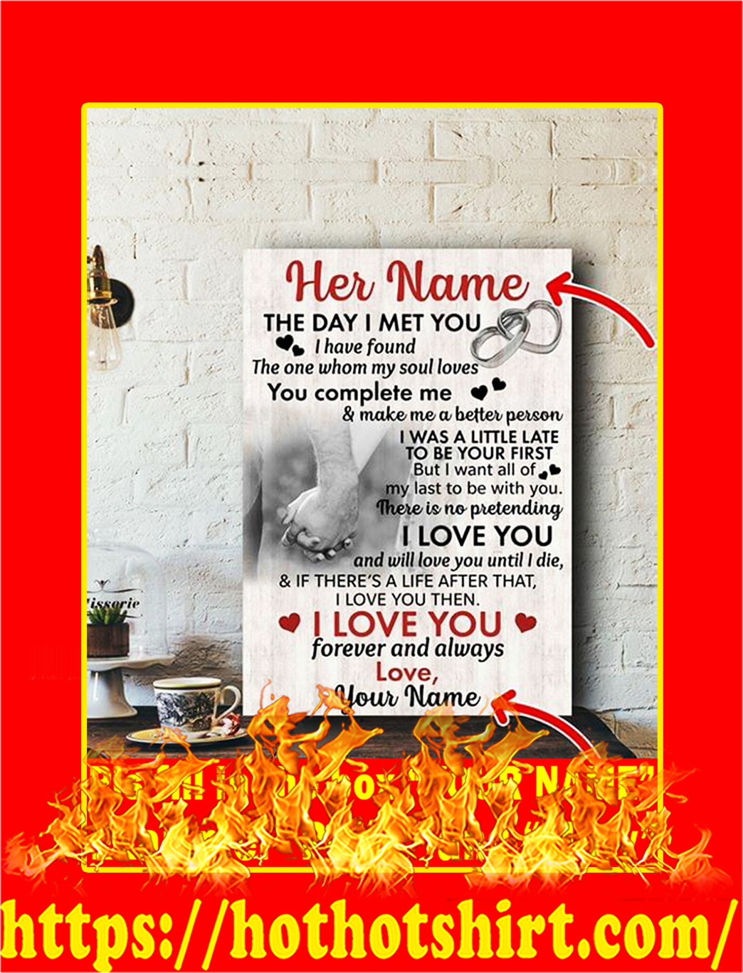 The Day I Met You Custom Name Poster- Style 2