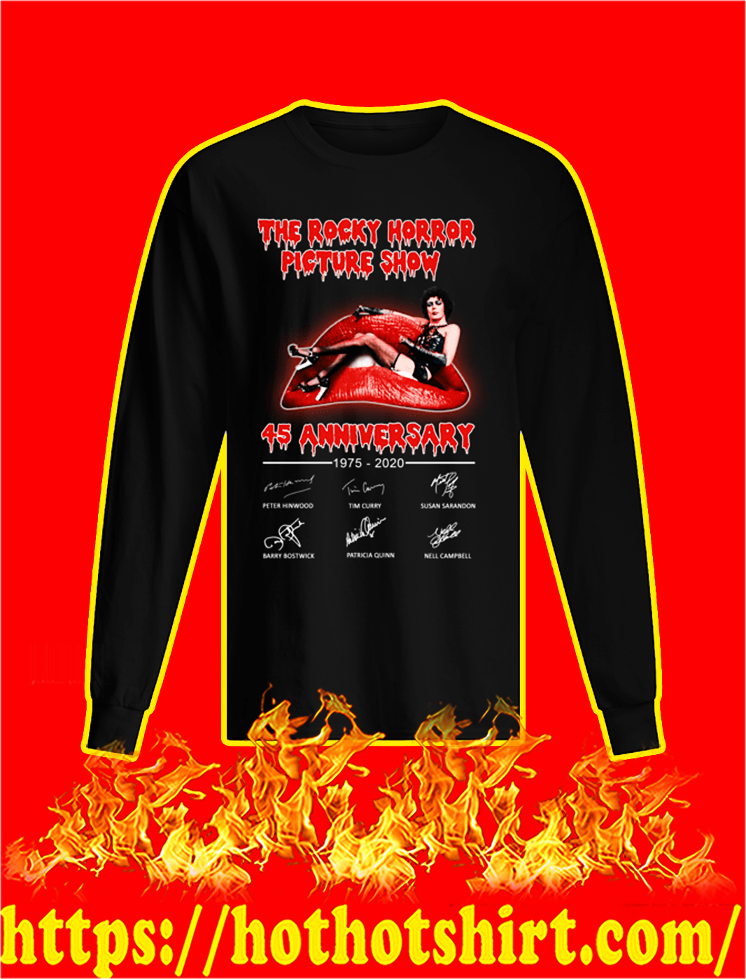 The Rocky Horror Picture Show 45th Anniversary longsleeve tee