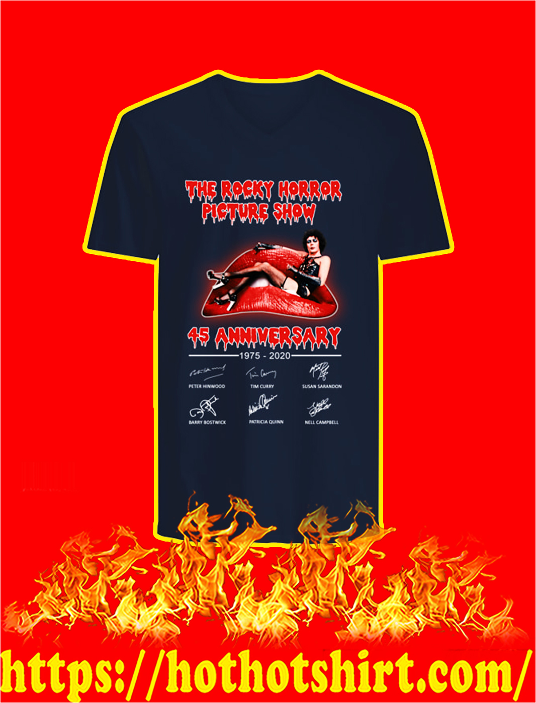 The Rocky Horror Picture Show 45th Anniversary v-neck