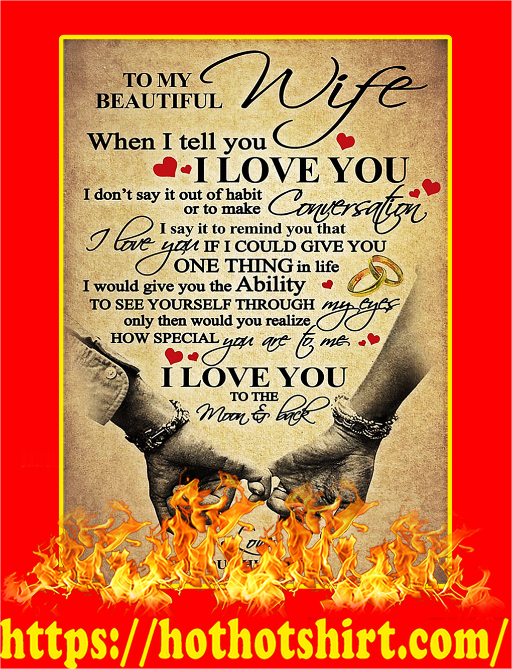 To My Beautiful Wife Poster - A3